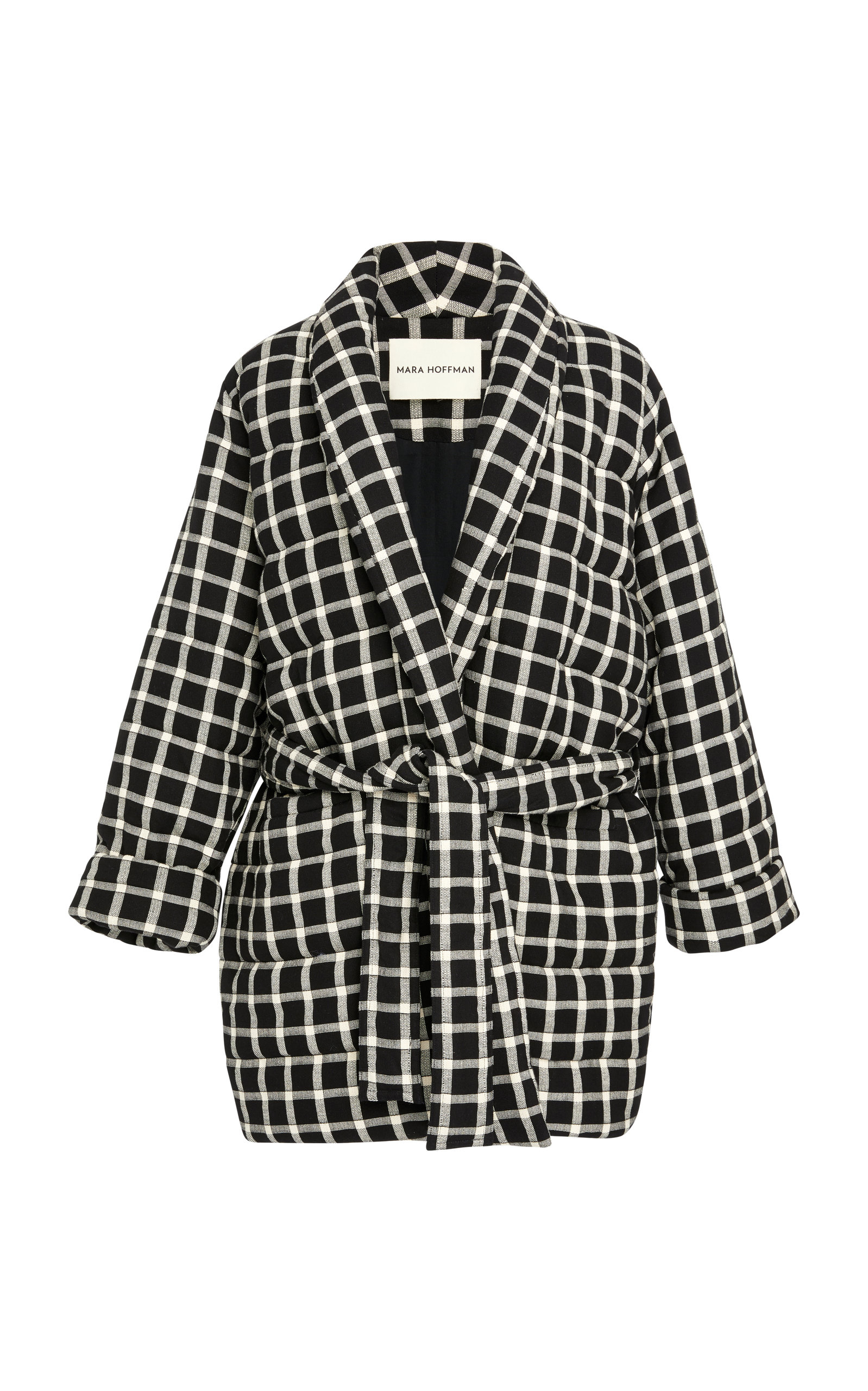 23137adfb Willa Quilted Check Wrap Jacket
