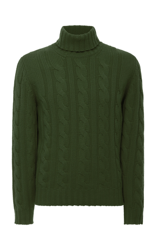 FIORONI | Fioroni Cable-Knit Cashmere Turtleneck Sweater | Goxip