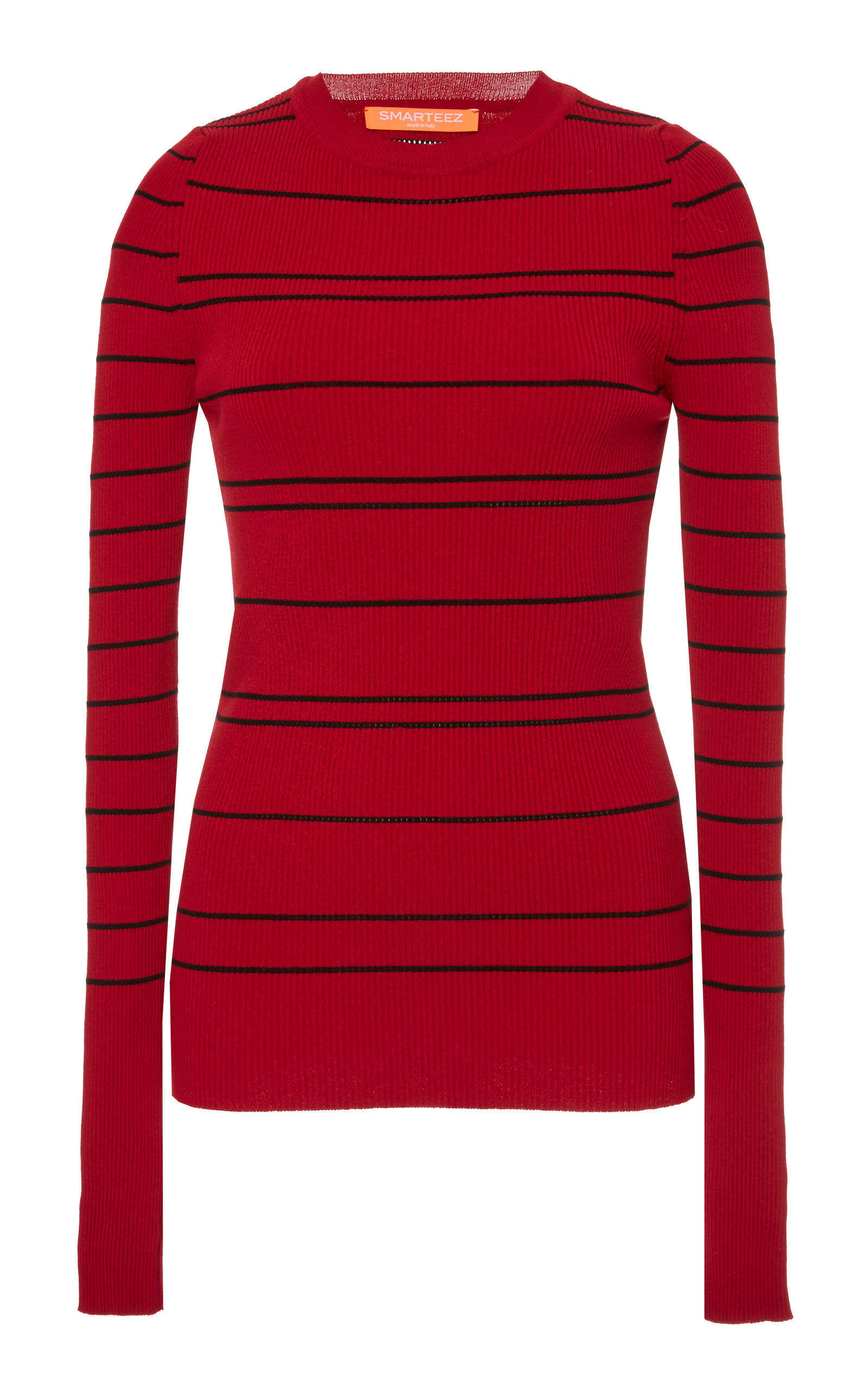 SMARTEEZ Aven Striped Knit in Red