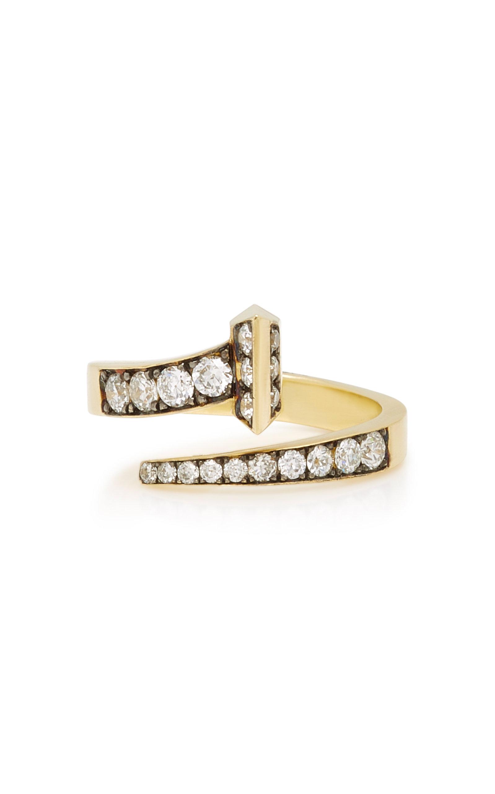 SYLVA & CIE EQUESTRIAN 18K GOLD DIAMOND RING