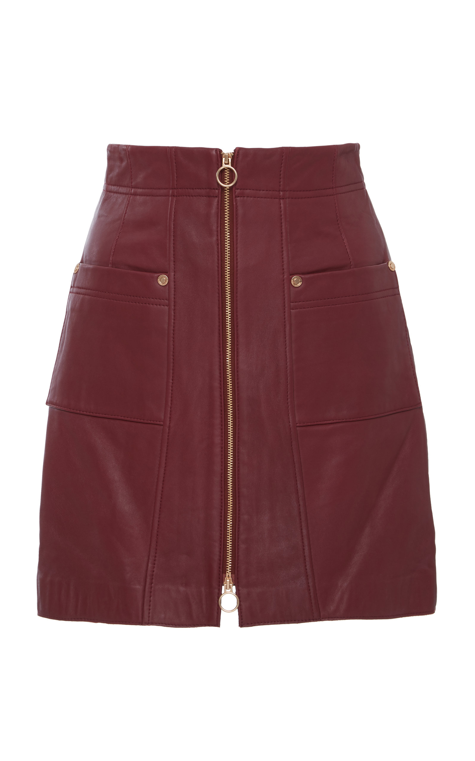 ALICE MCCALL Make Me Yours Leather Mini Skirt in Red