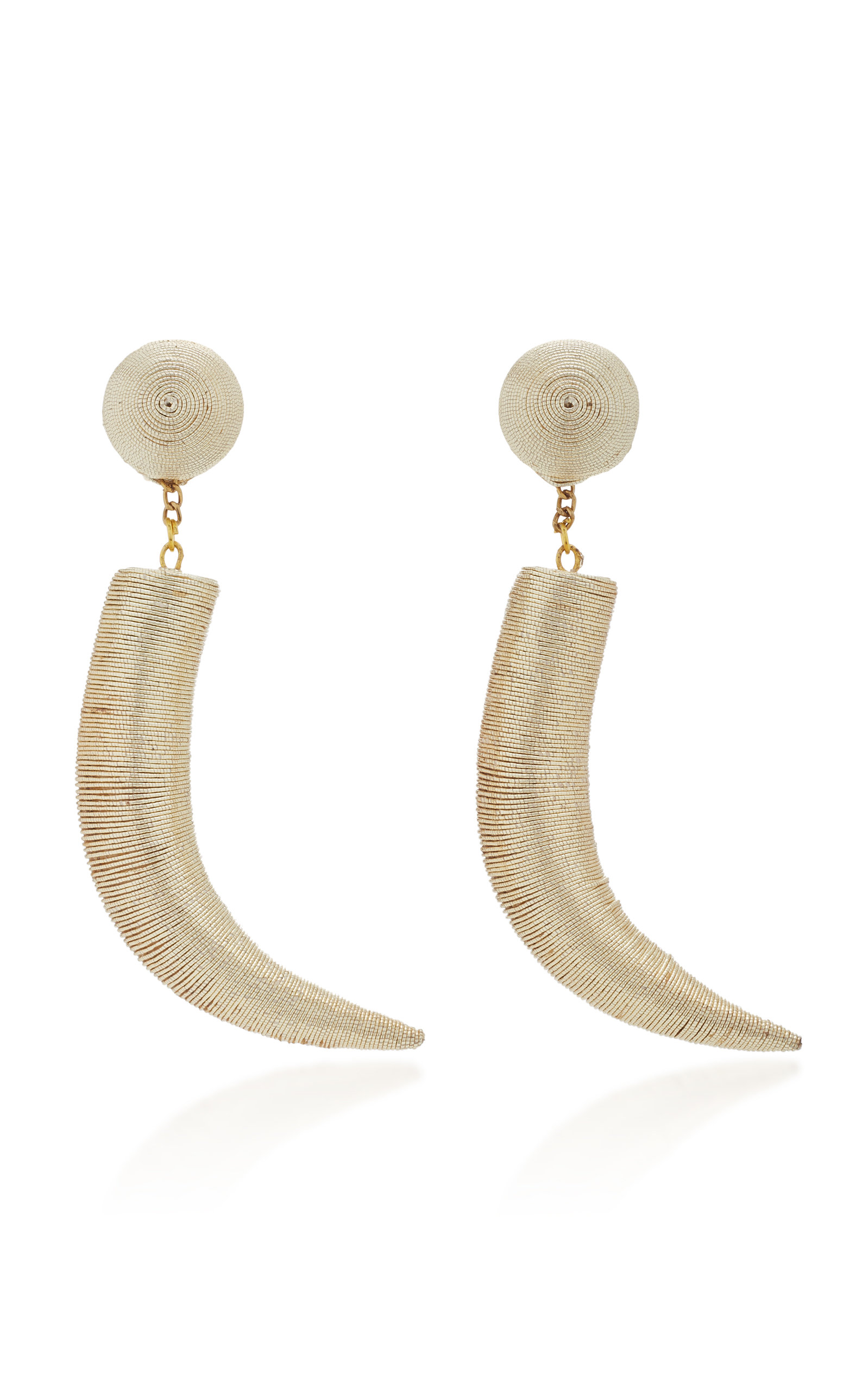 Pasha Cord And Gold-Plated Clip Earrings