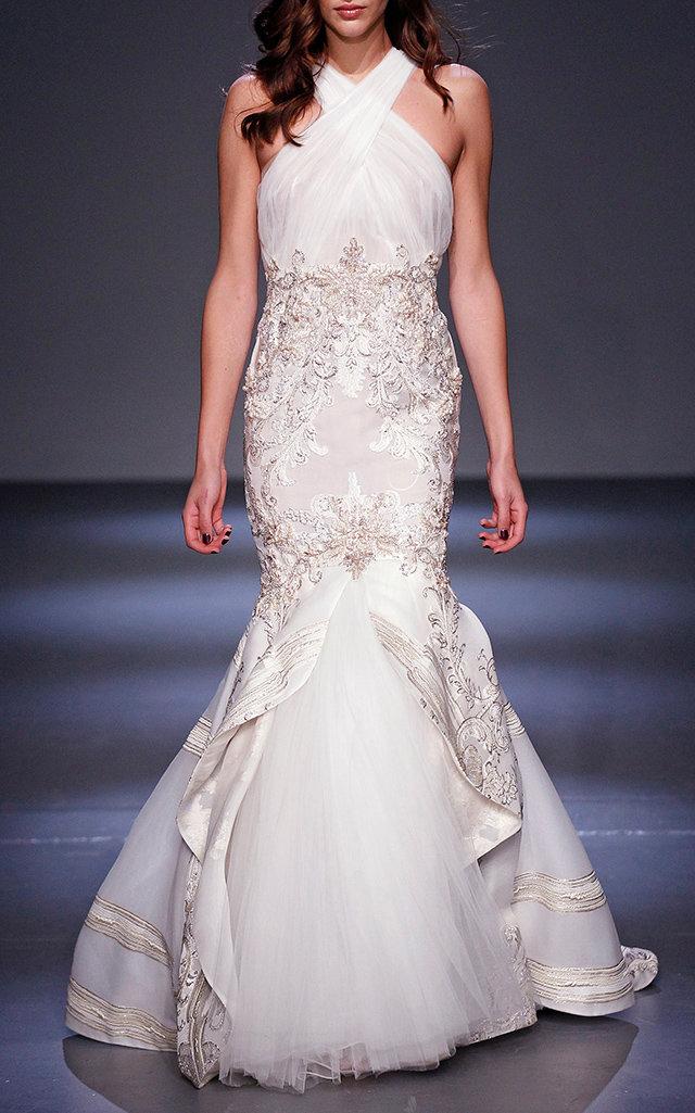 Baroque Gate Fil-Coupe Gown by Pamella Roland | Moda Operandi