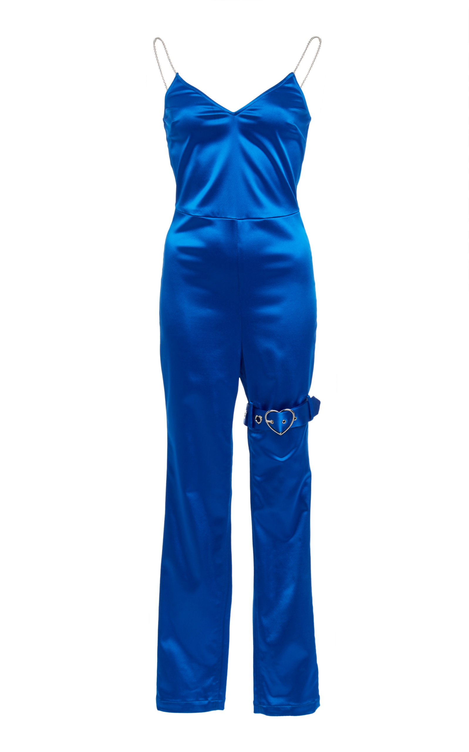ADAM SELMAN Cami Belted Jumpsuit  in Blue