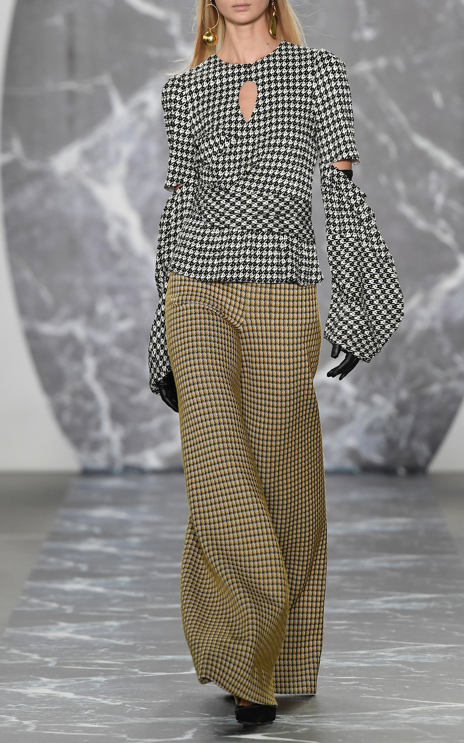Clearance Finishline Sale Amazing Price Celeste Cutout Houndstooth Jacquard Blouse Hellessy With Paypal Online nsTsbpE6n