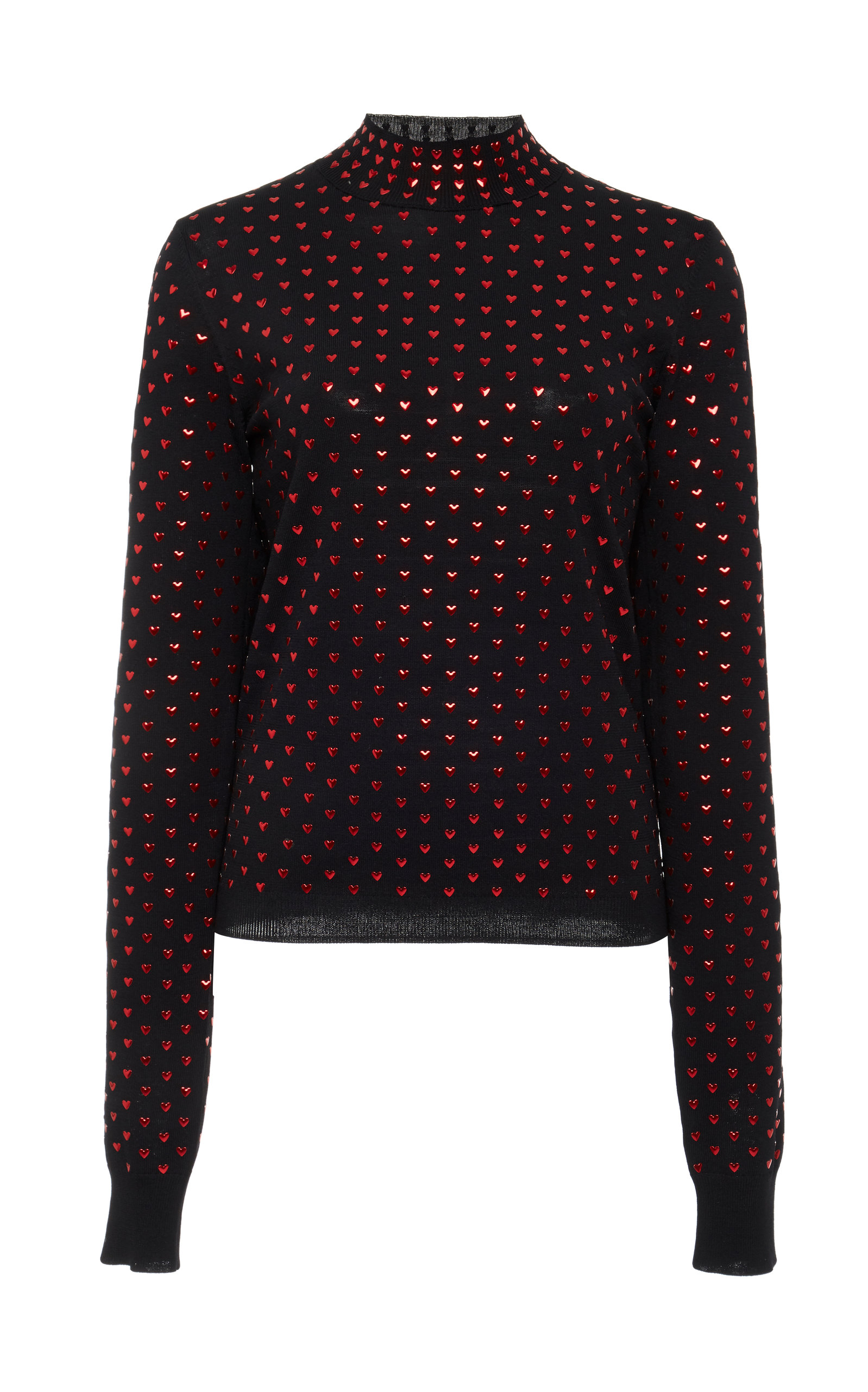 ADAM SELMAN Mock Neck Top in Black