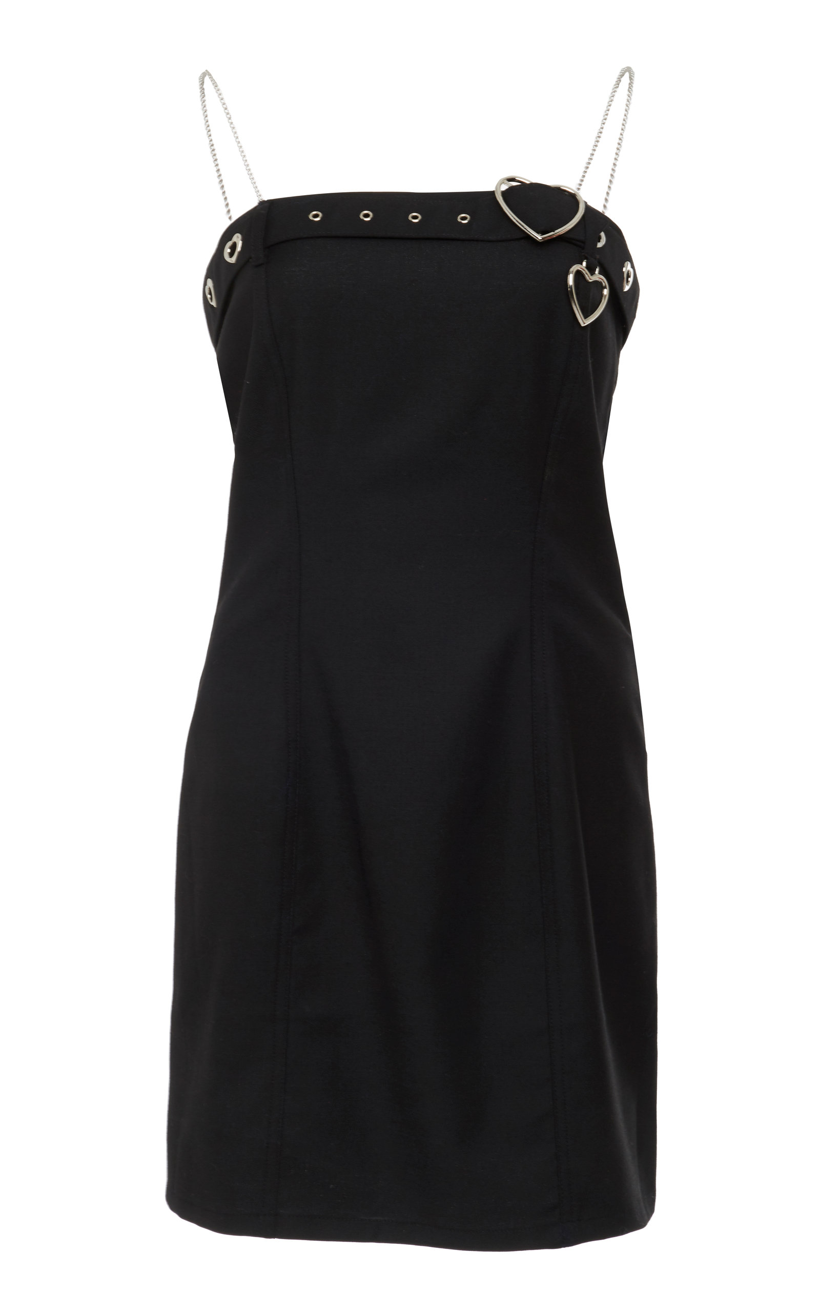 ADAM SELMAN Belt Mini Dress in Black