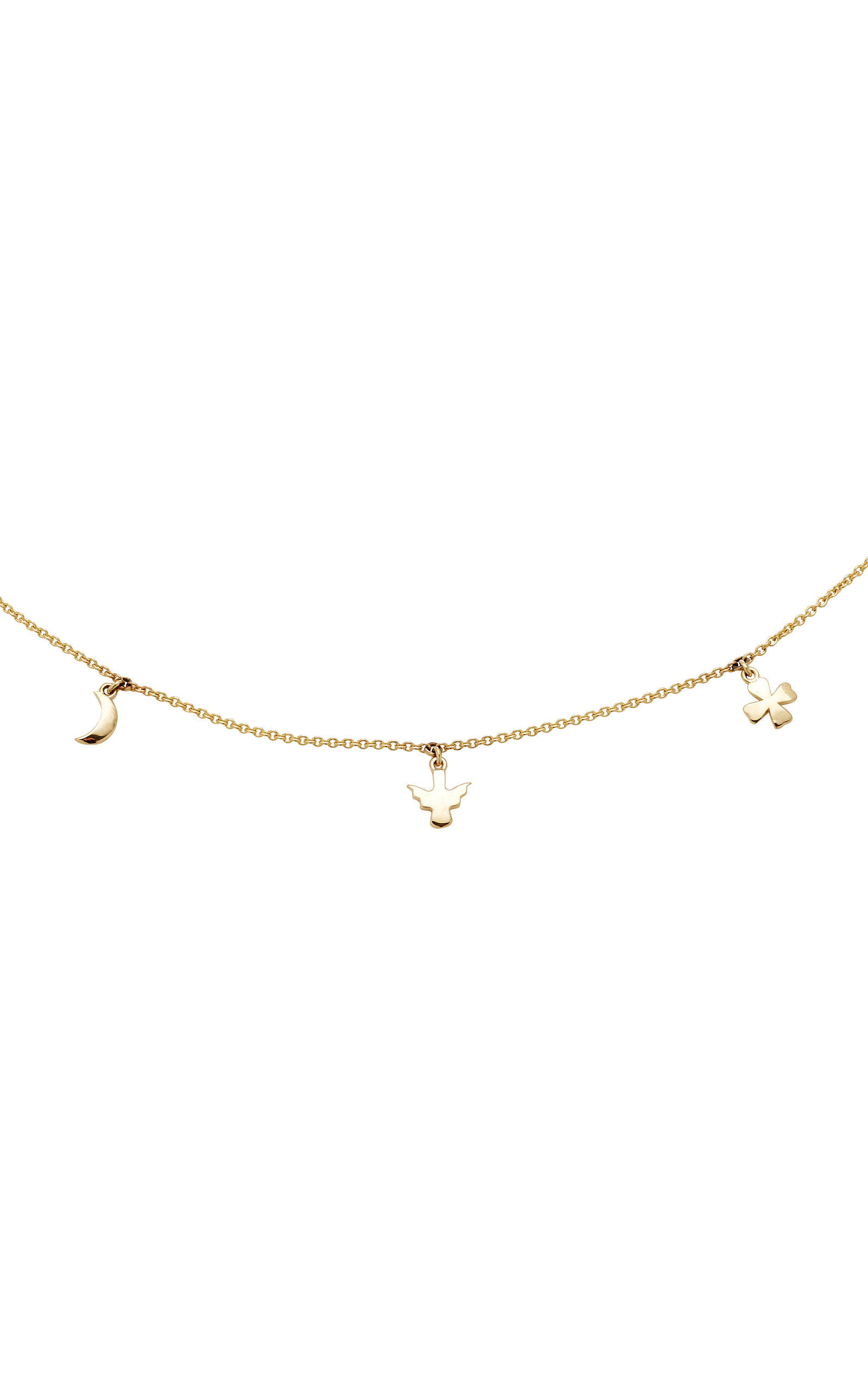 Love Eternity Guidance Luck & Magic 18K Gold Necklace With Love Darling a1CzM7a3IF