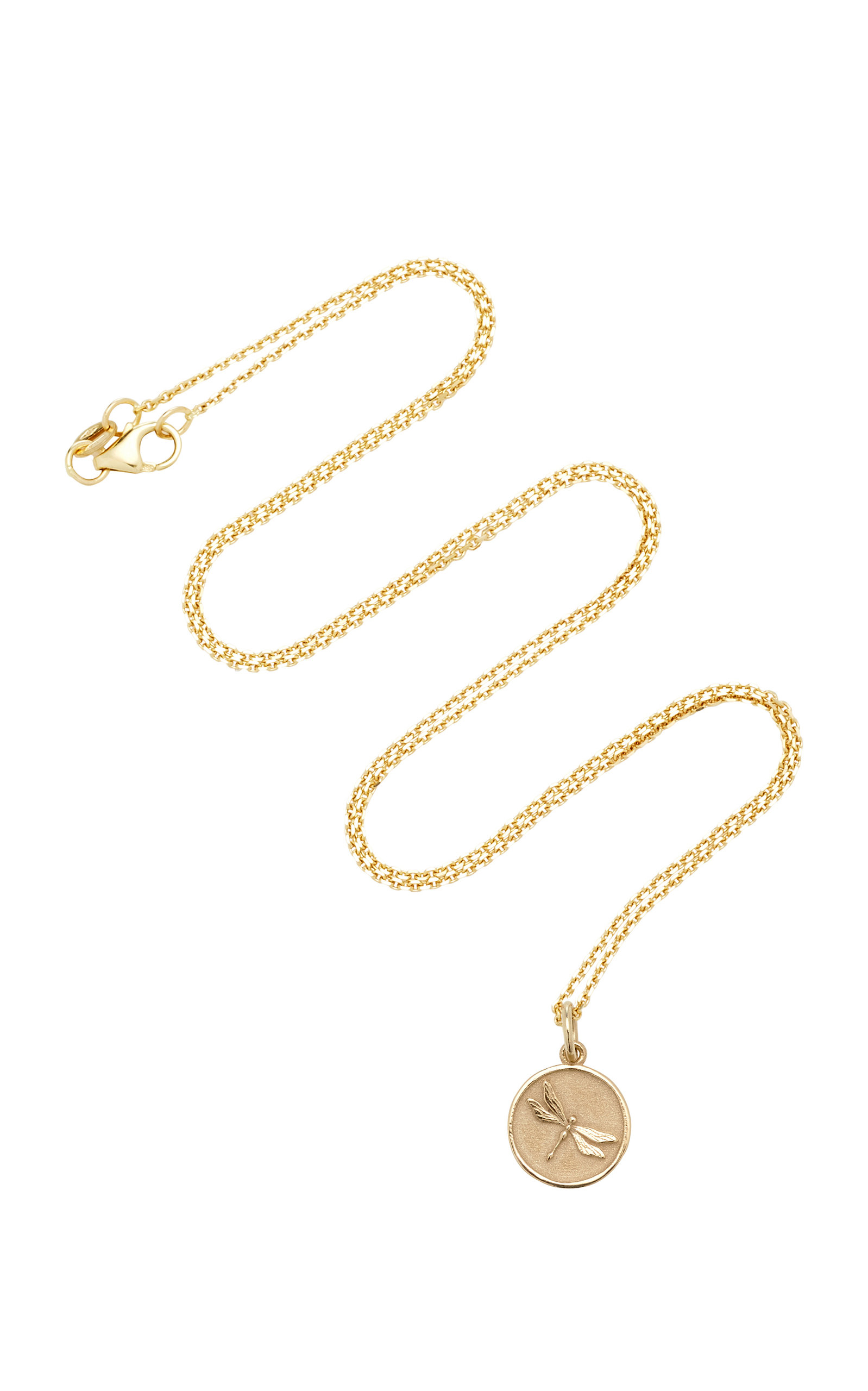 With Love Darling Dragonfly Totem 14K Gold Necklace UxISJbvf