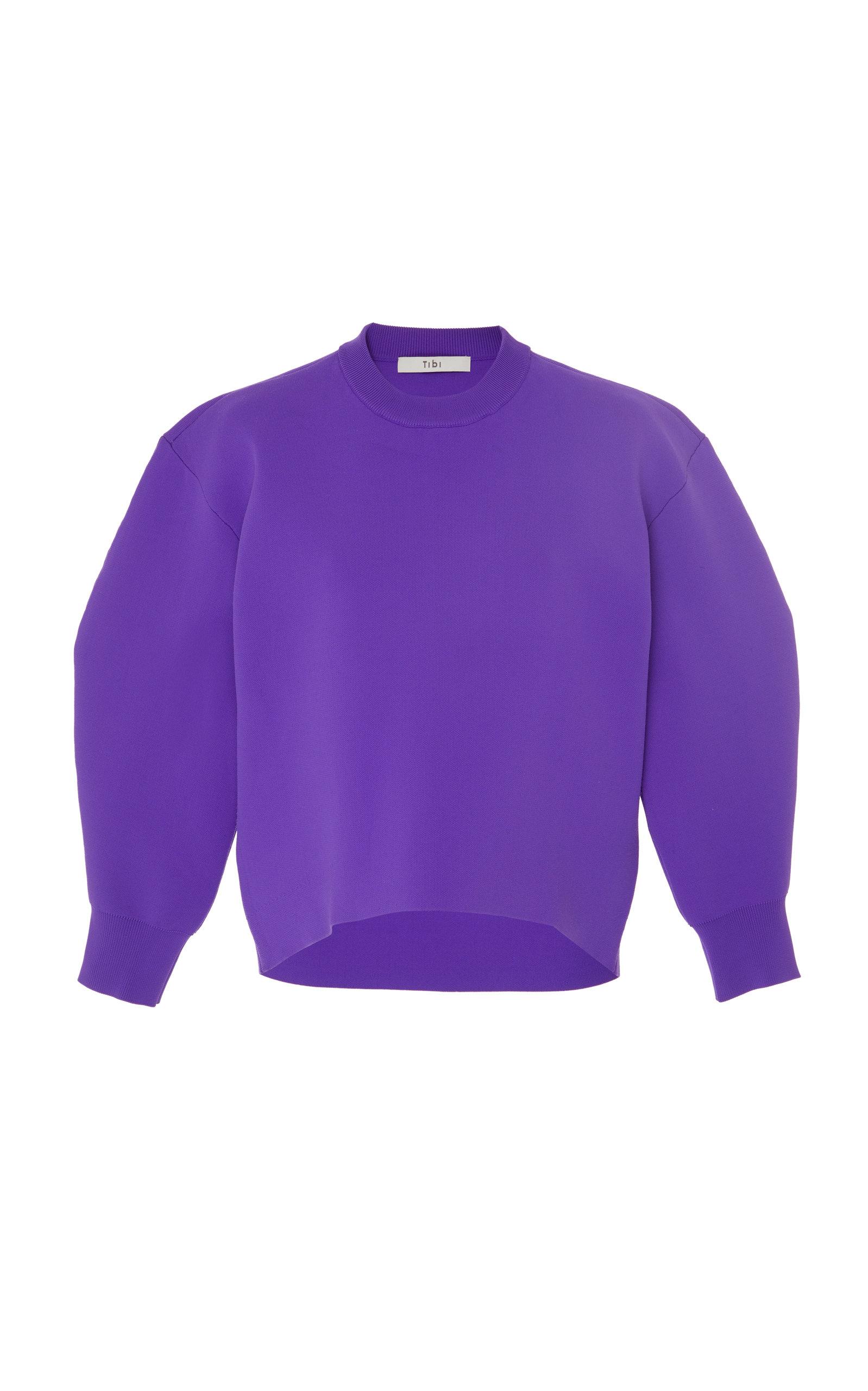 Sculpted Sleeve Sweater, Purple
