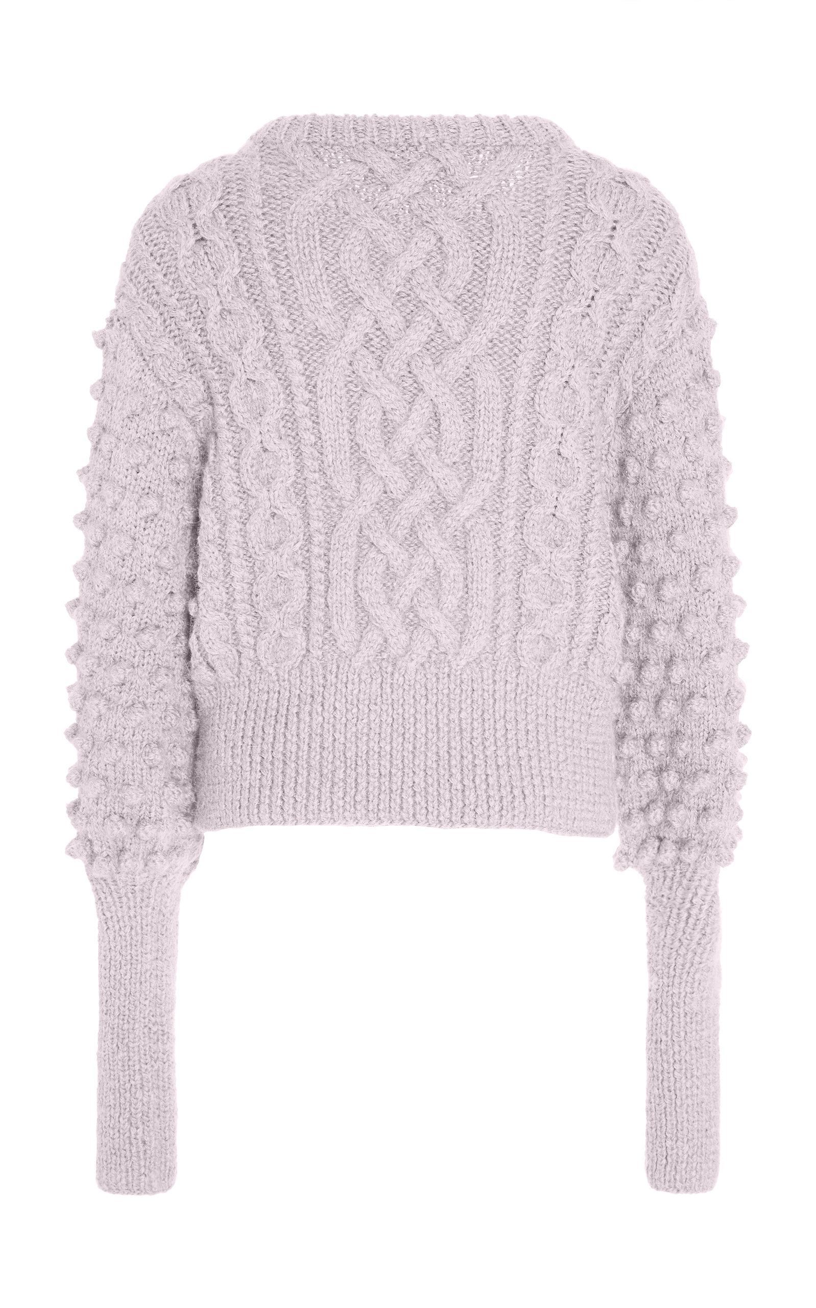Lieve Handknit Cable Crew Sweater by Apiece Apart  f07b65b53