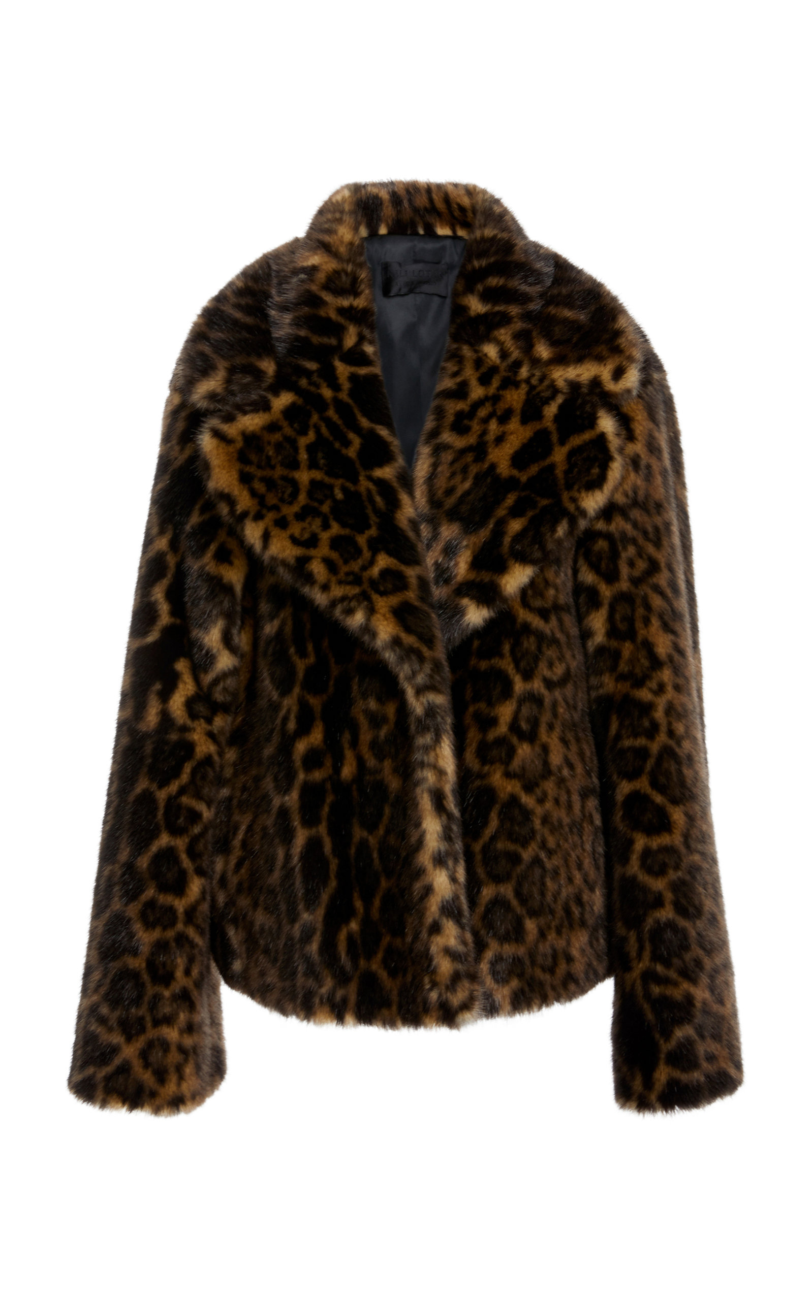 Sedella Leopard-Print Faux Fur Coat, Animal