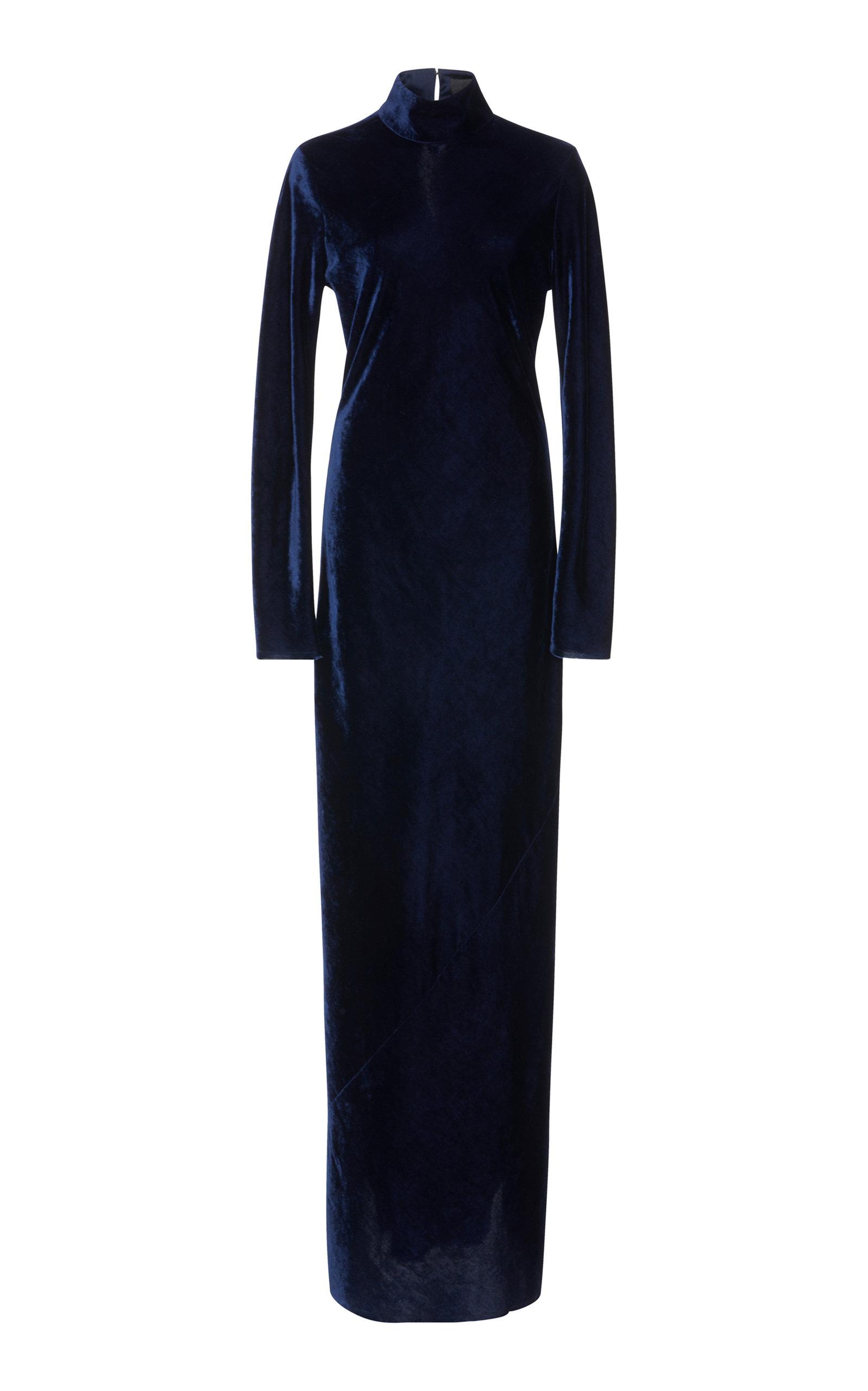 Genevieve Velvet Maxi Dress, Navy