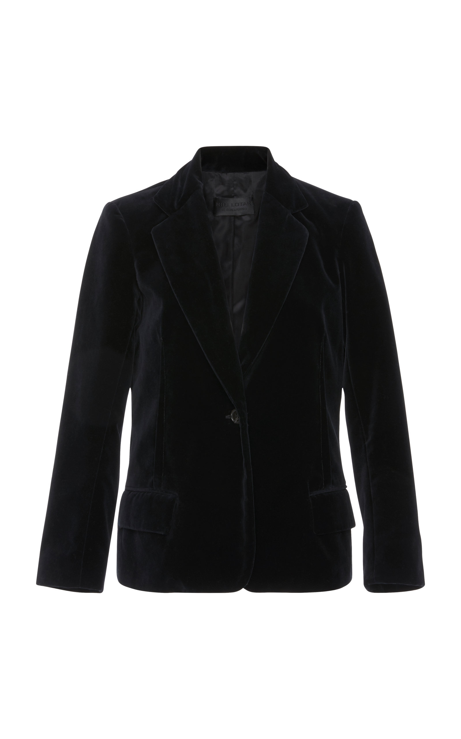 Humphrey Velvet Jacket in Black