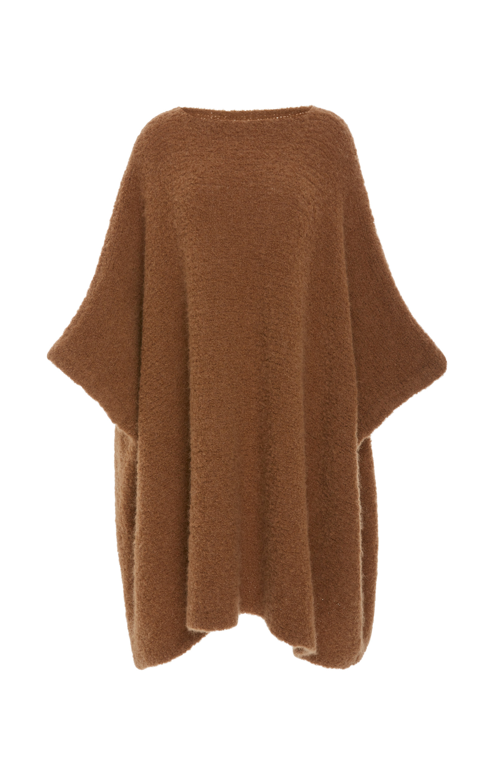 Horizontal Poncho In Brown