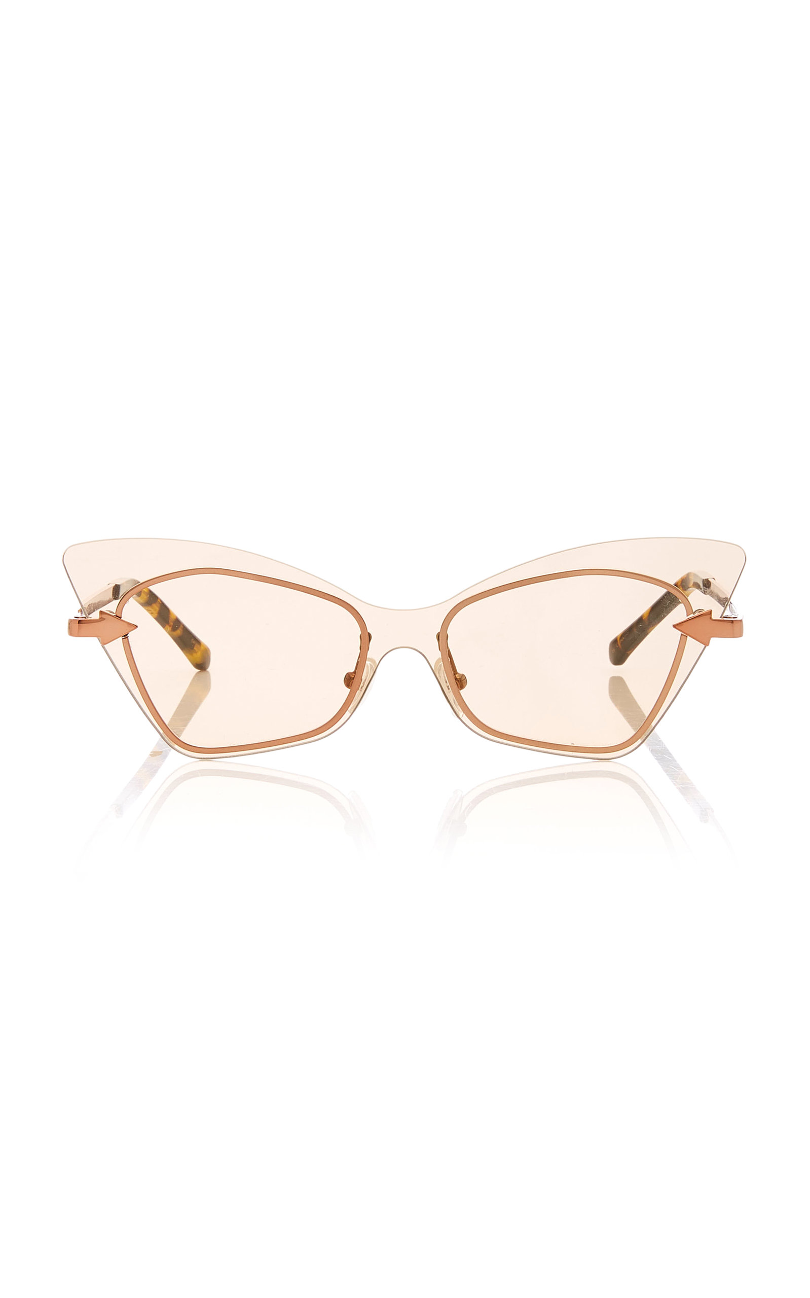 14599429822d KAREN WALKER MRS BRILL CAT EYE ACETATE SUNGLASSES