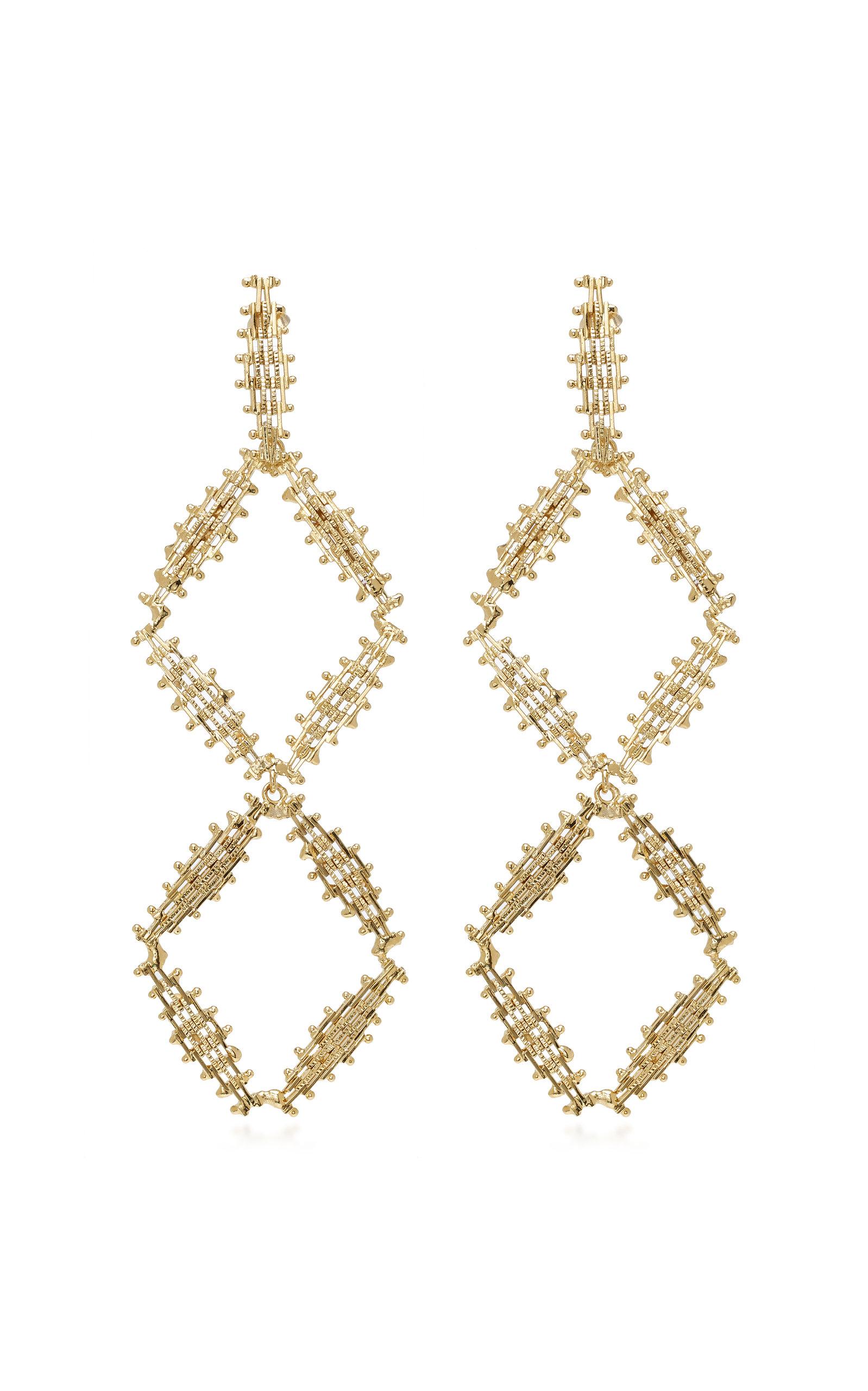 Voluttà Double Gold-Tone Brass Earrings Rosantica 638avT70d8