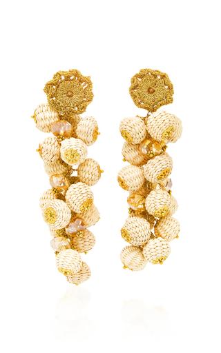BIBI MARINI | Bibi Marini Basket Weave Cluster Drop Earrings | Goxip