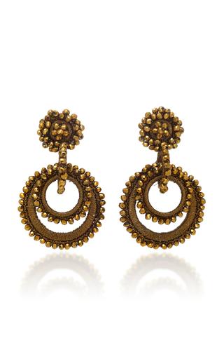 BIBI MARINI | Bibi Marini Silk and Mother of Pearl Beaded Short Sundrop Earrings | Goxip