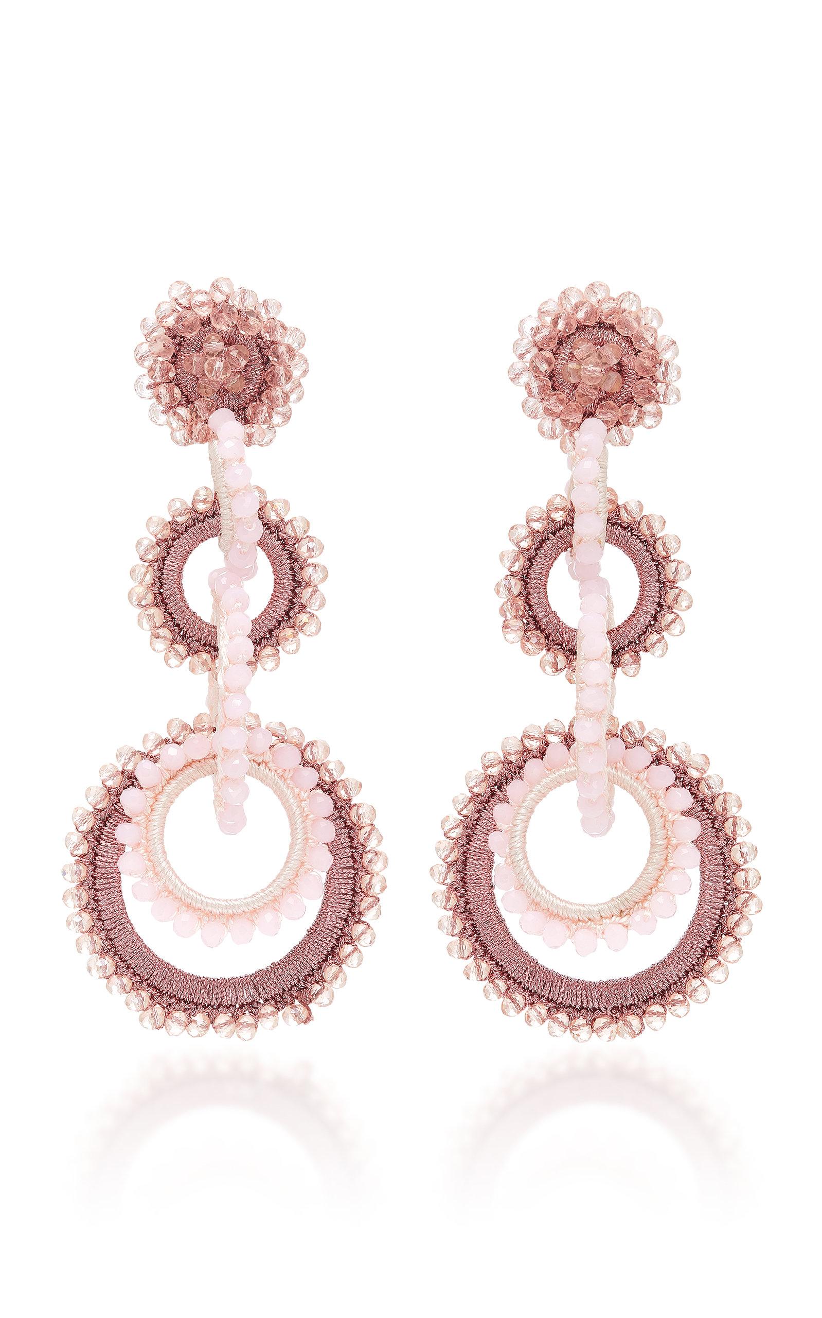 Bibi Marini Mini Sundrop Bead And Silk Earrings - Pink WbQ2z