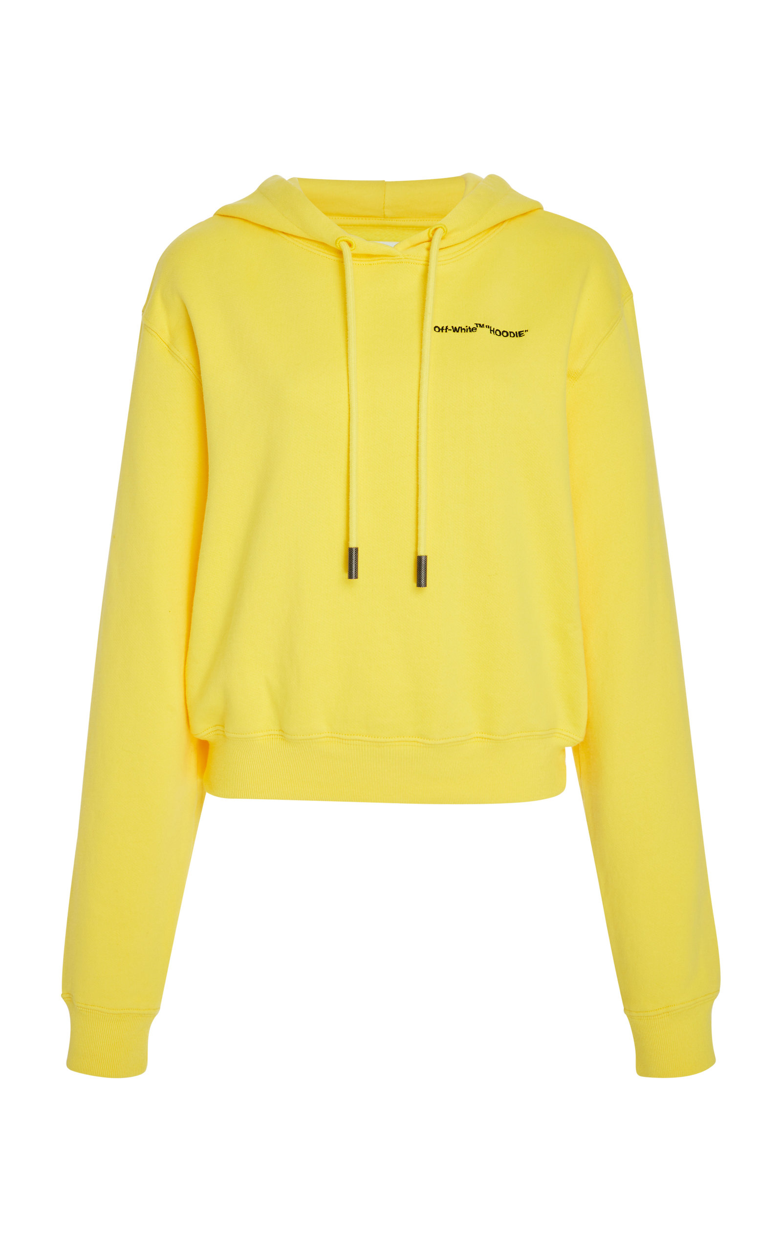 71d02e0778b53b Off-White c o Virgil AblohCropped Printed Cotton-Jersey Hooded Sweatshirt.  CLOSE. Loading
