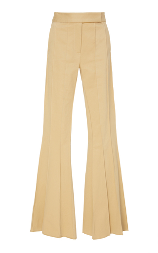 Metallic Stretch Flared Pants Rosie Assoulin
