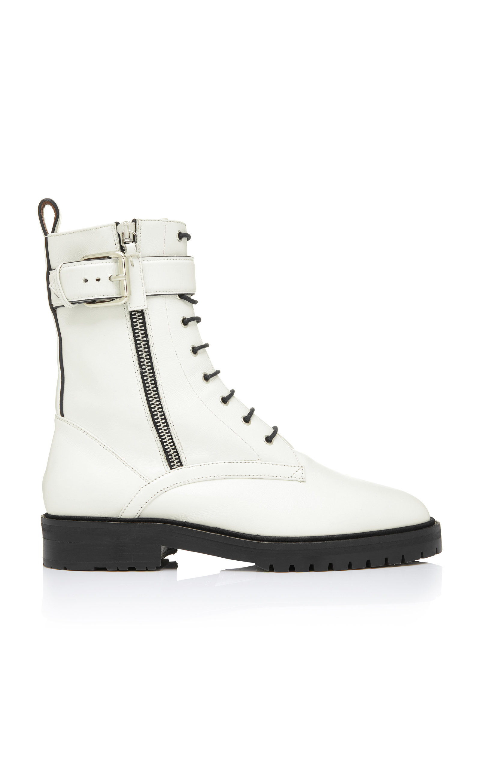 MAX LEATHER COMBAT BOOTS