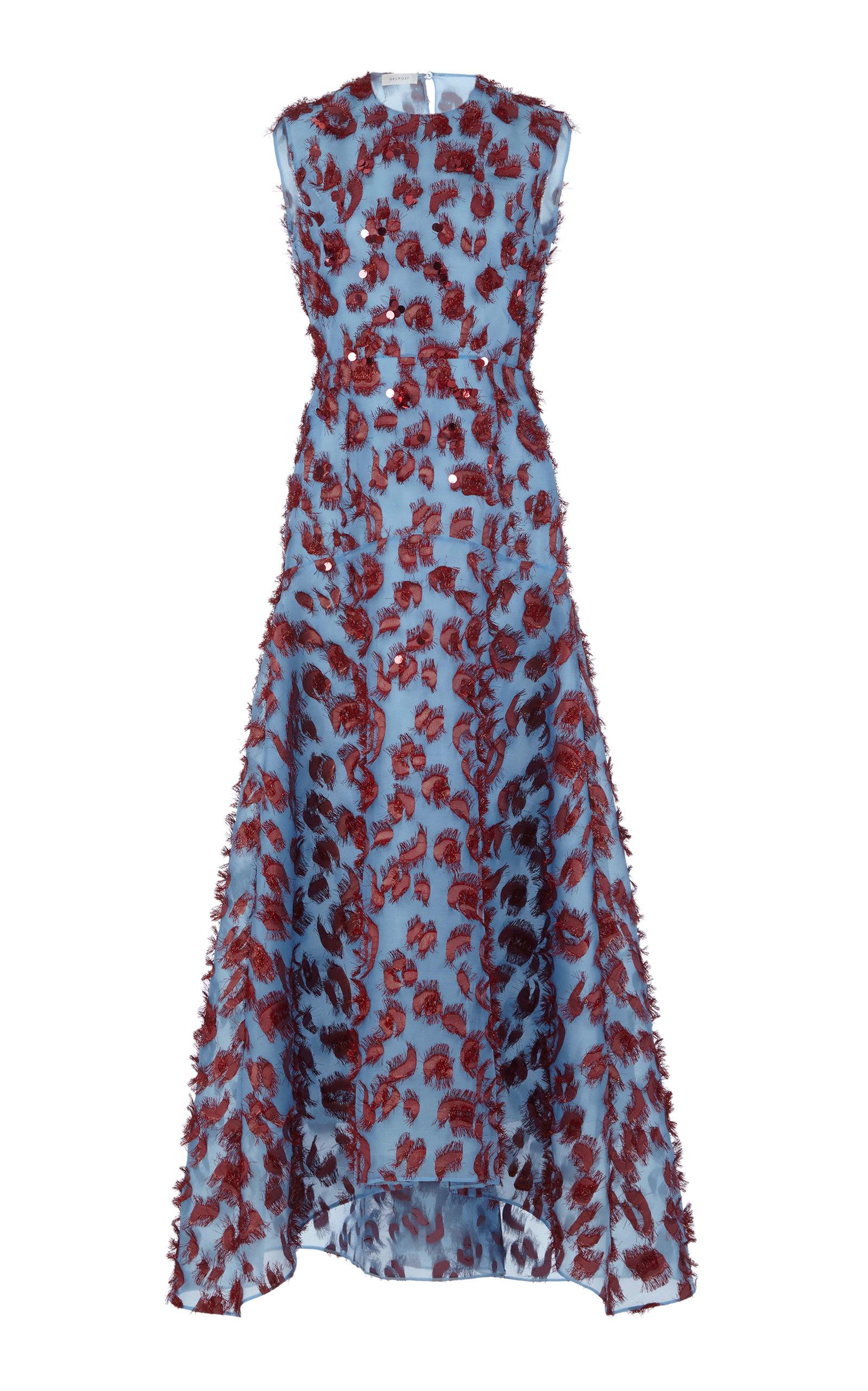 Sequin Organza Midi Dress By Delpozo Moda Operandi