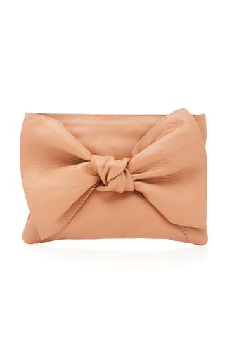 ULLA JOHNSON | Ulla Johnson Tali Oversized Bow-Embellished Leather Clutch | Goxip