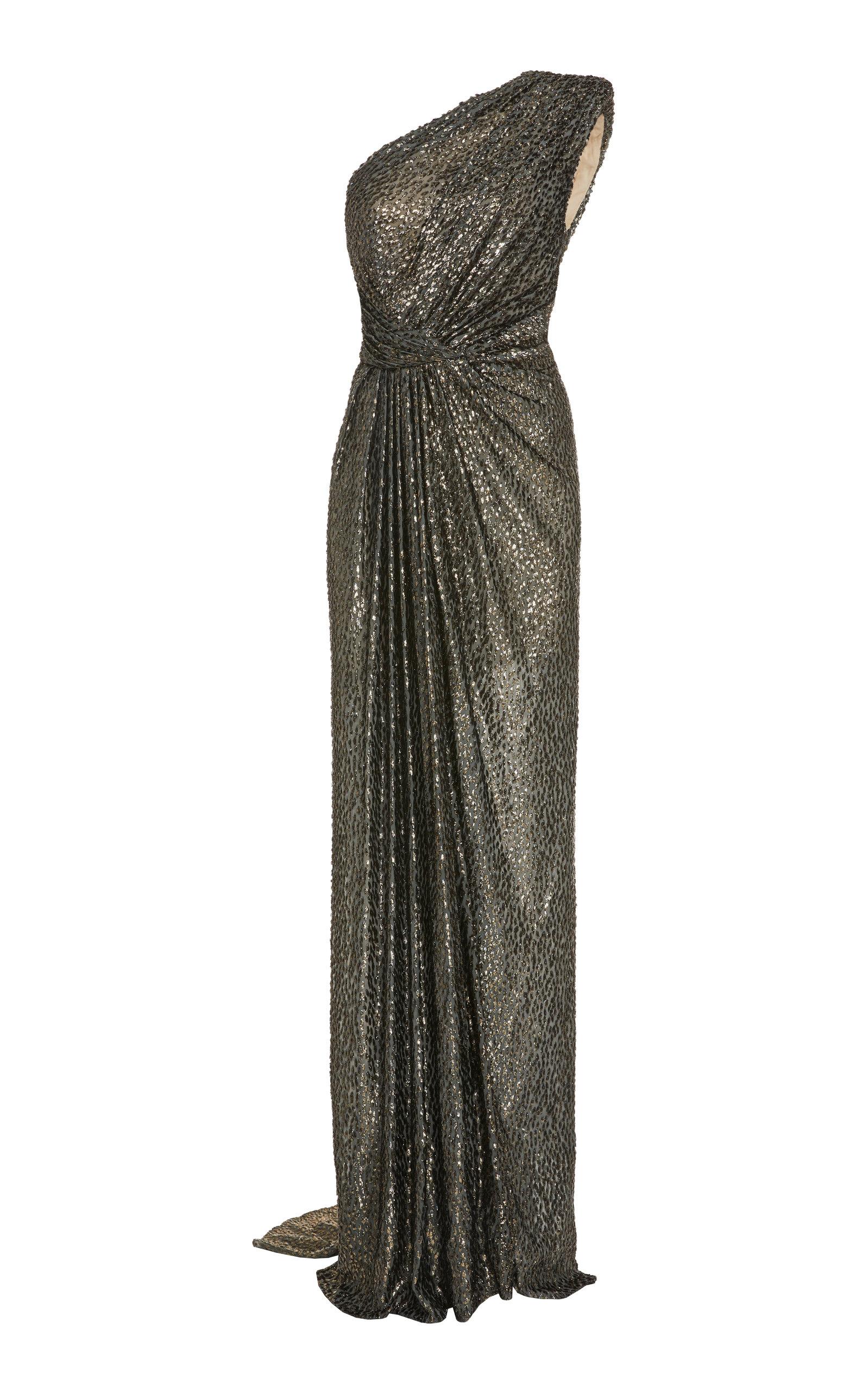 Metallic Draped Gown by Monique Lhuillier   Moda Operandi