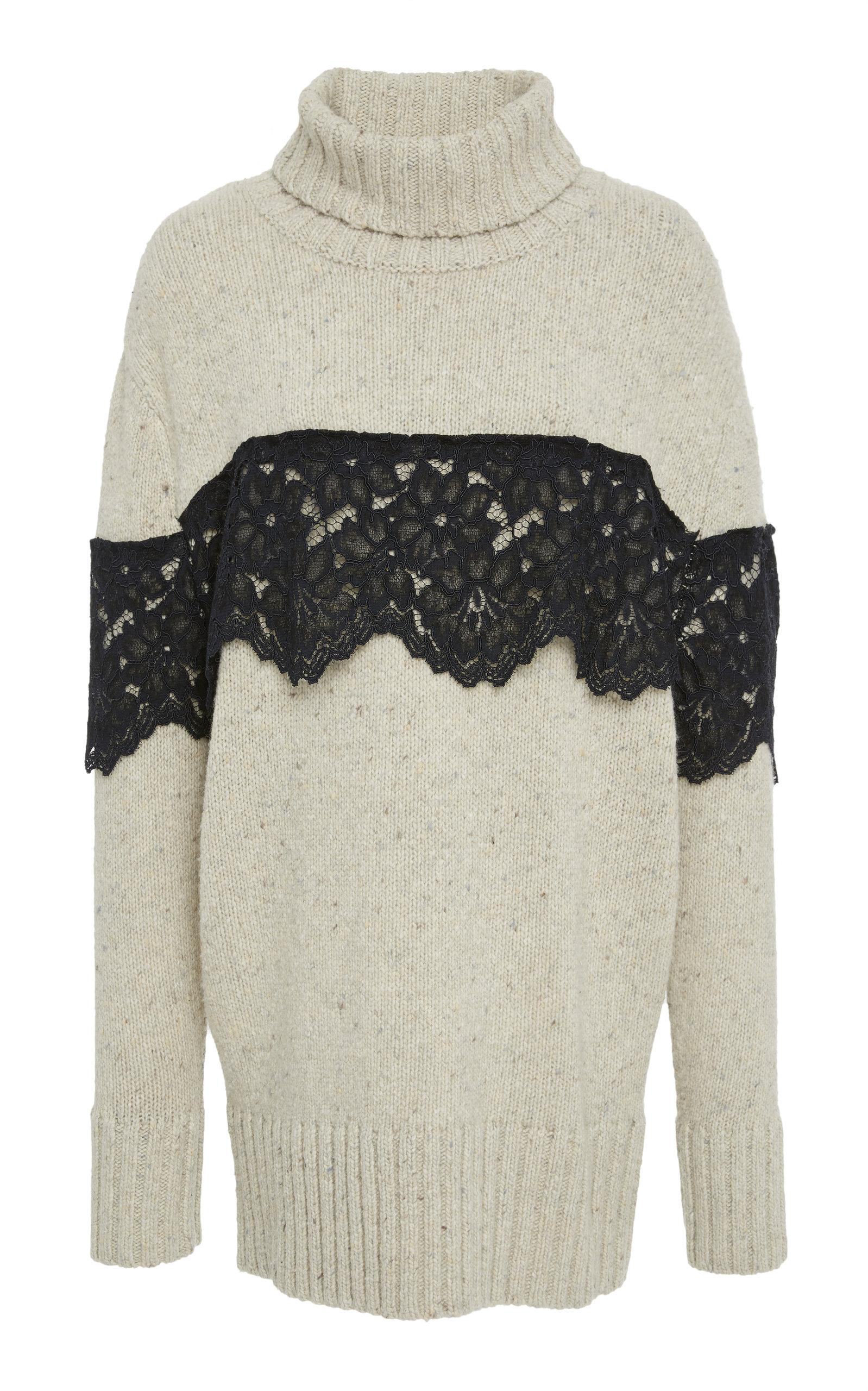 Weston Turtle Neck Pullover in Black/White