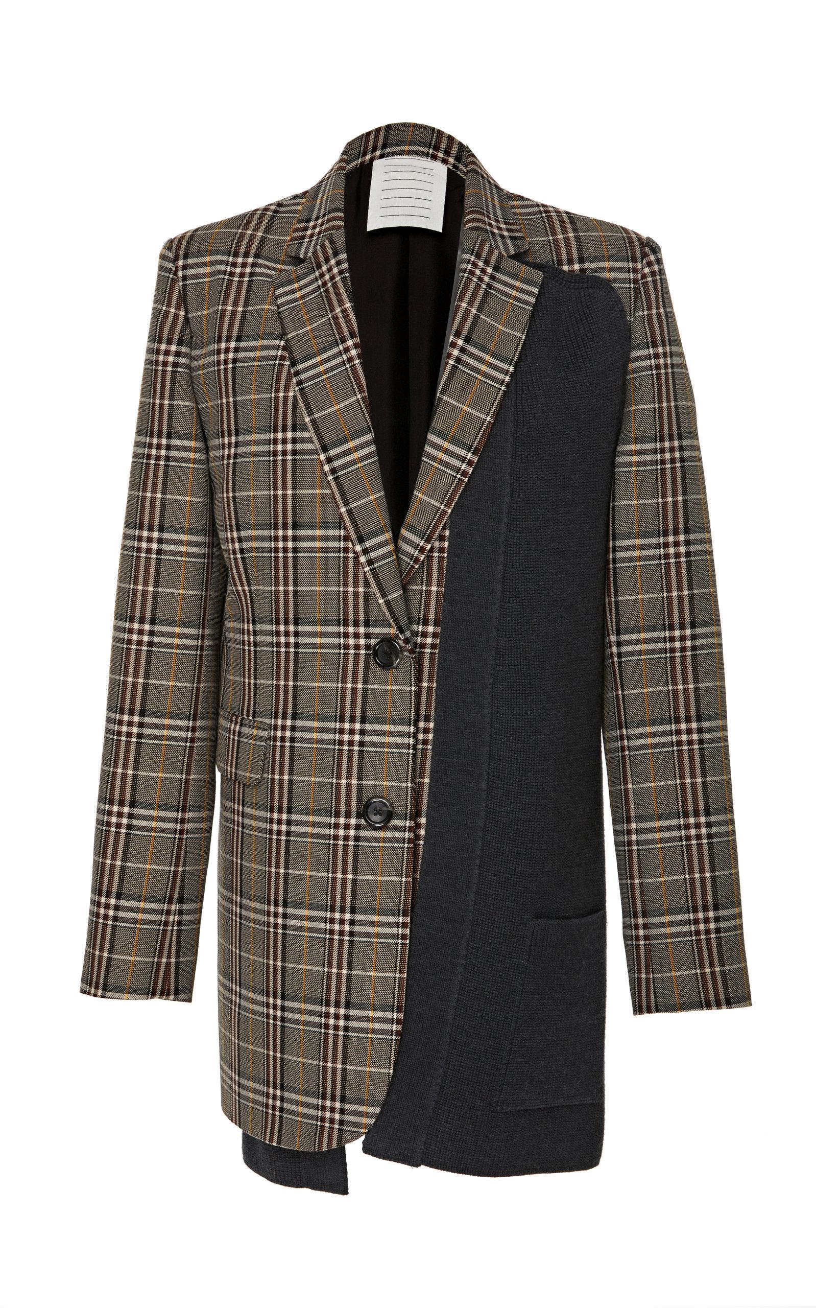 Sale Professional  Large Plaid Cuff Jacket Monse ISAFz