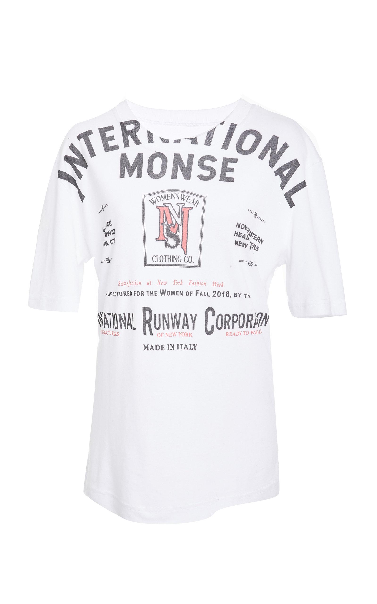 MONSE Logo Print T-Shirt  in White