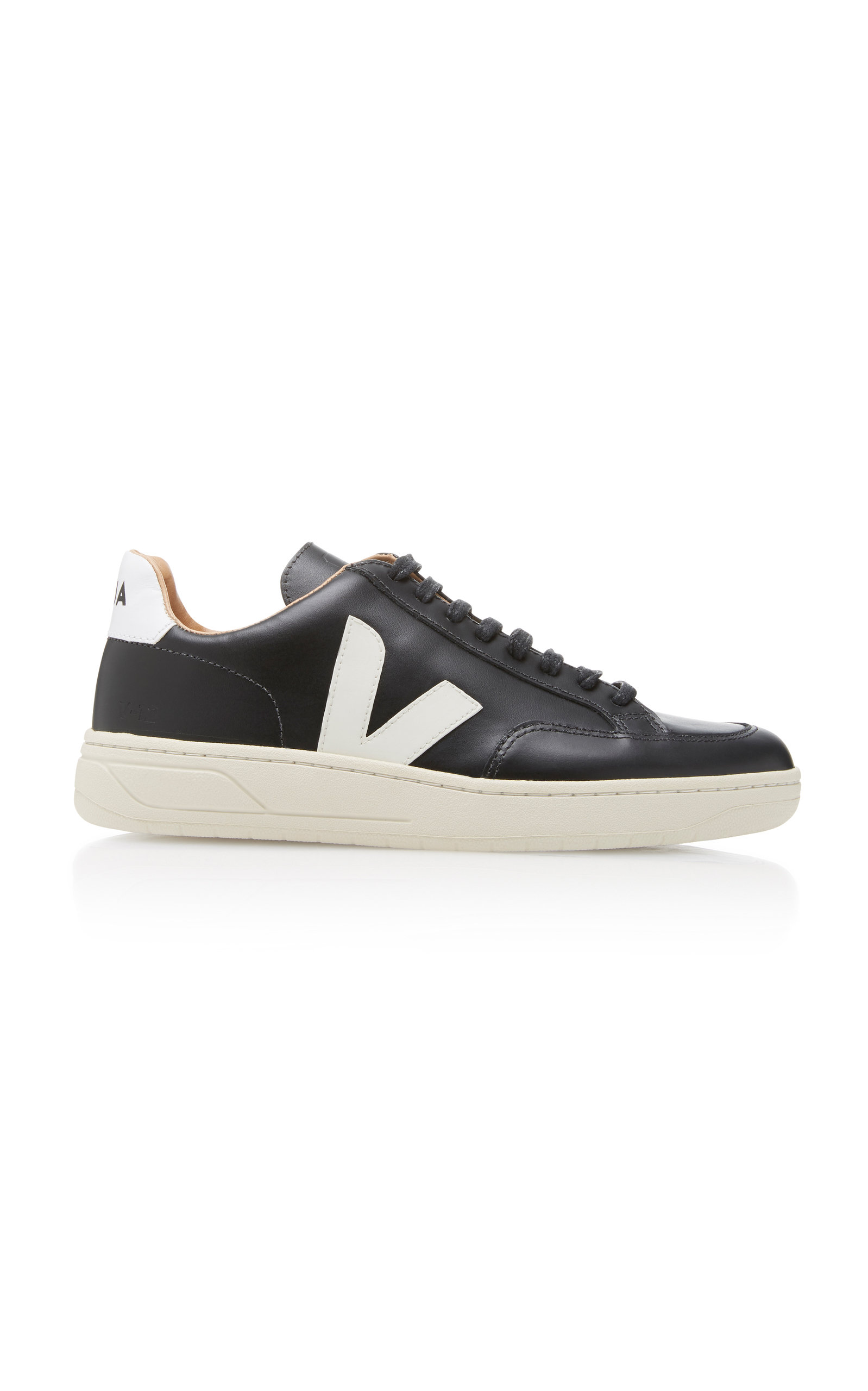Veja Bastille Two-Tone Leather Sneakers a3Npz