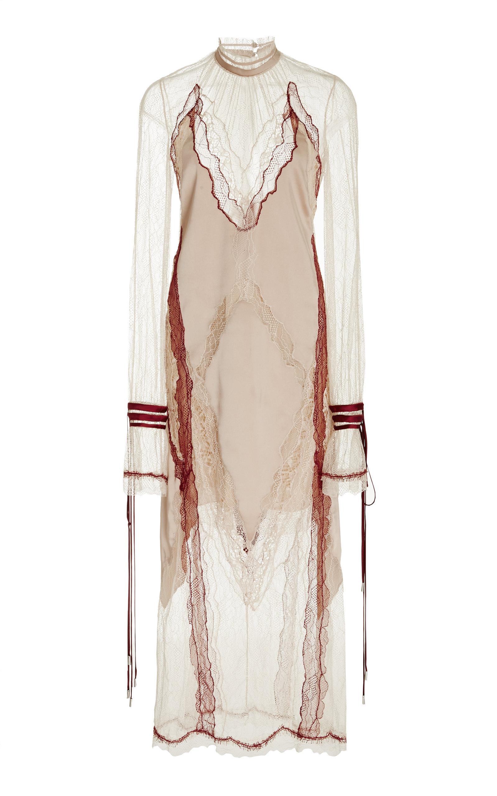 Runway Lingerie Lace Sateen Long Sleeve Dress by Jonathan Simkhai ...