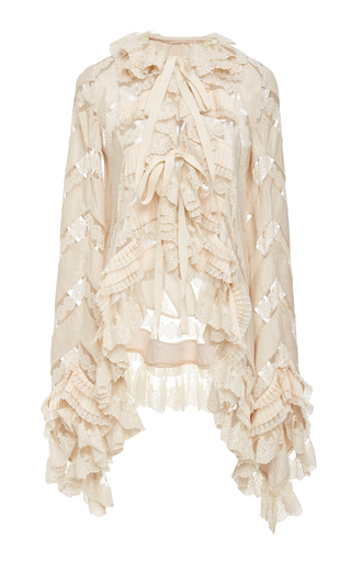 Click Product to Zoom Zimmermann Tempest Pleat Lace Top