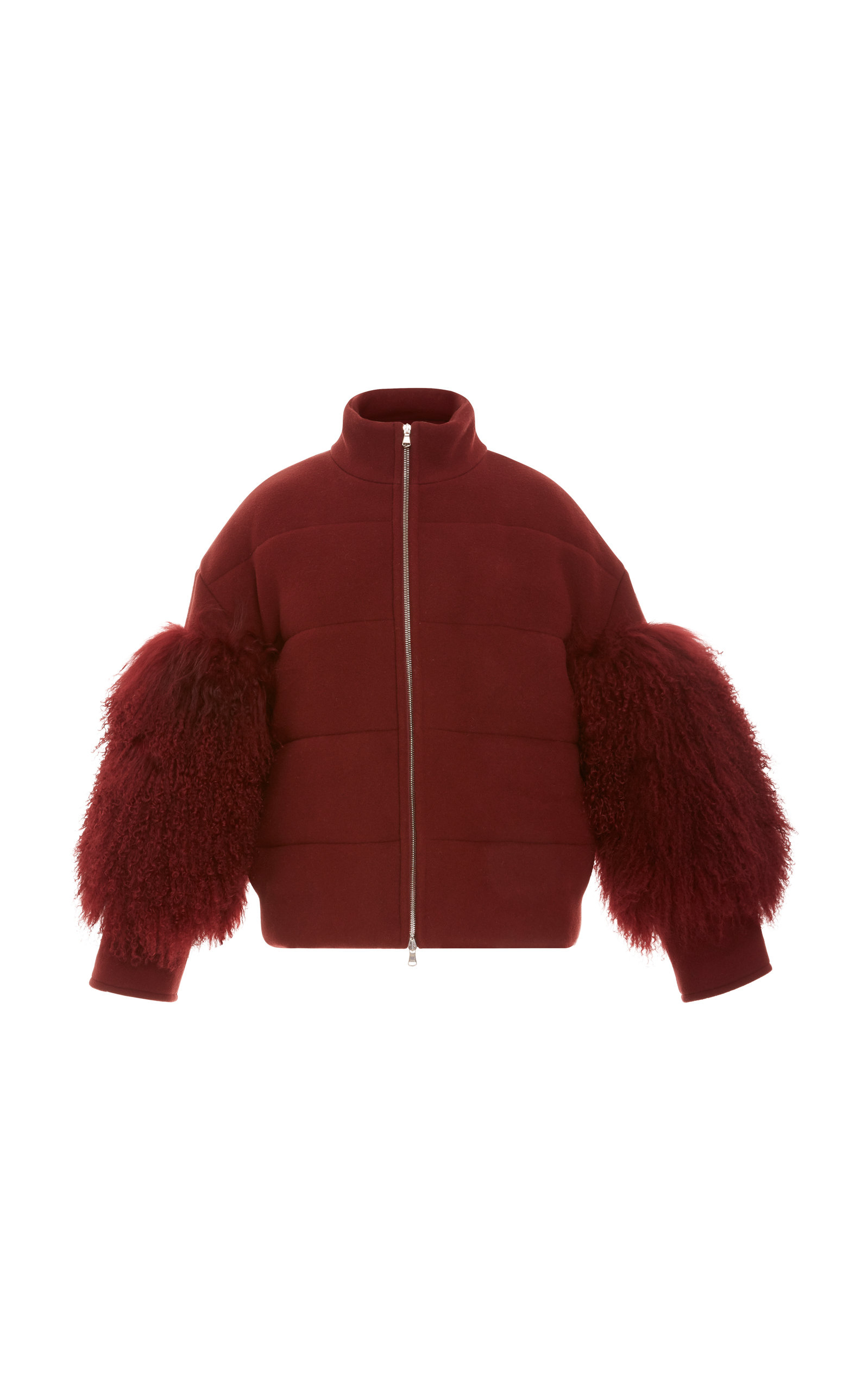 81d3bf17cd Cropped Puffer Coat With Shearling