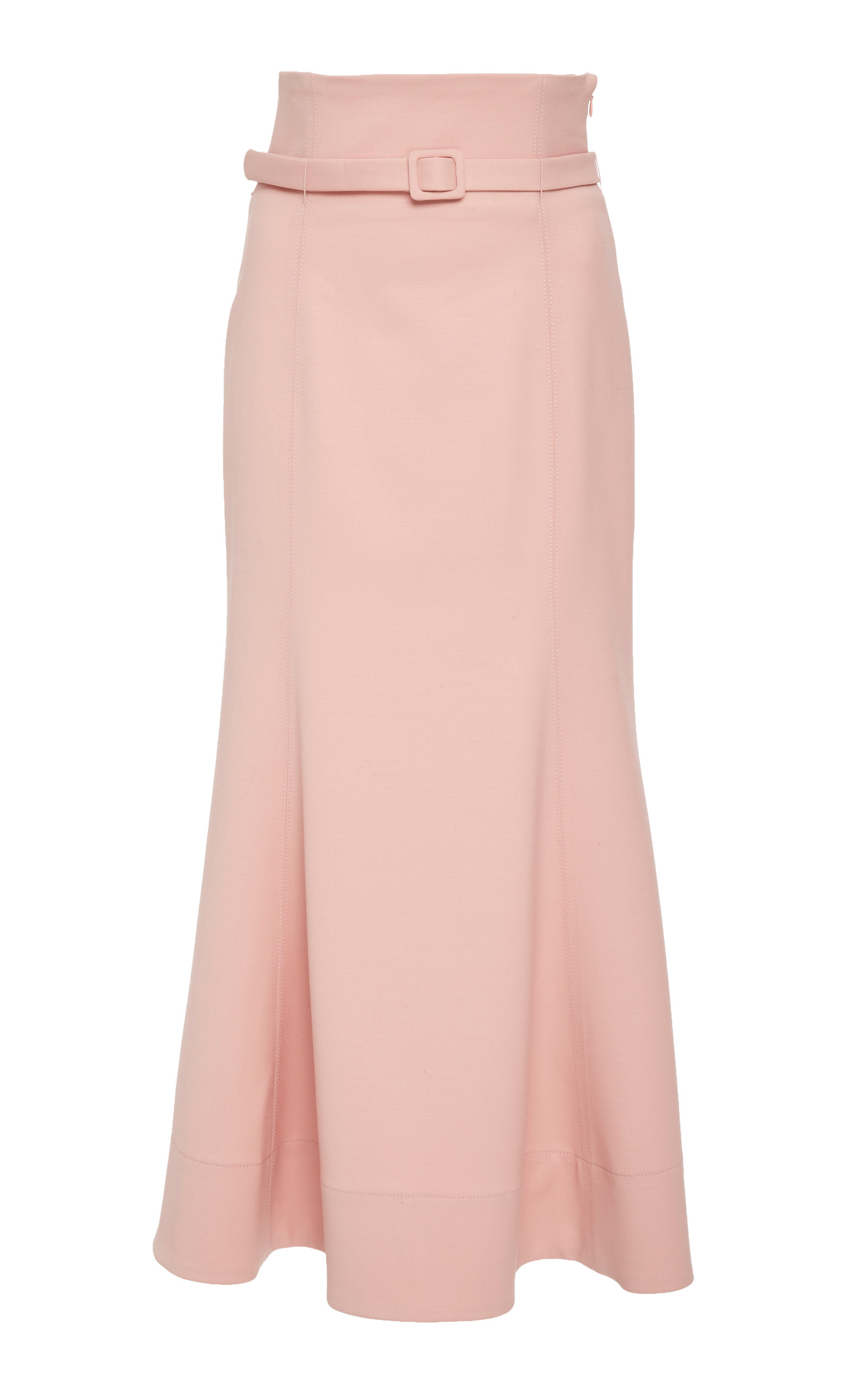 Severino Wool-Blend Midi Skirt in Pink
