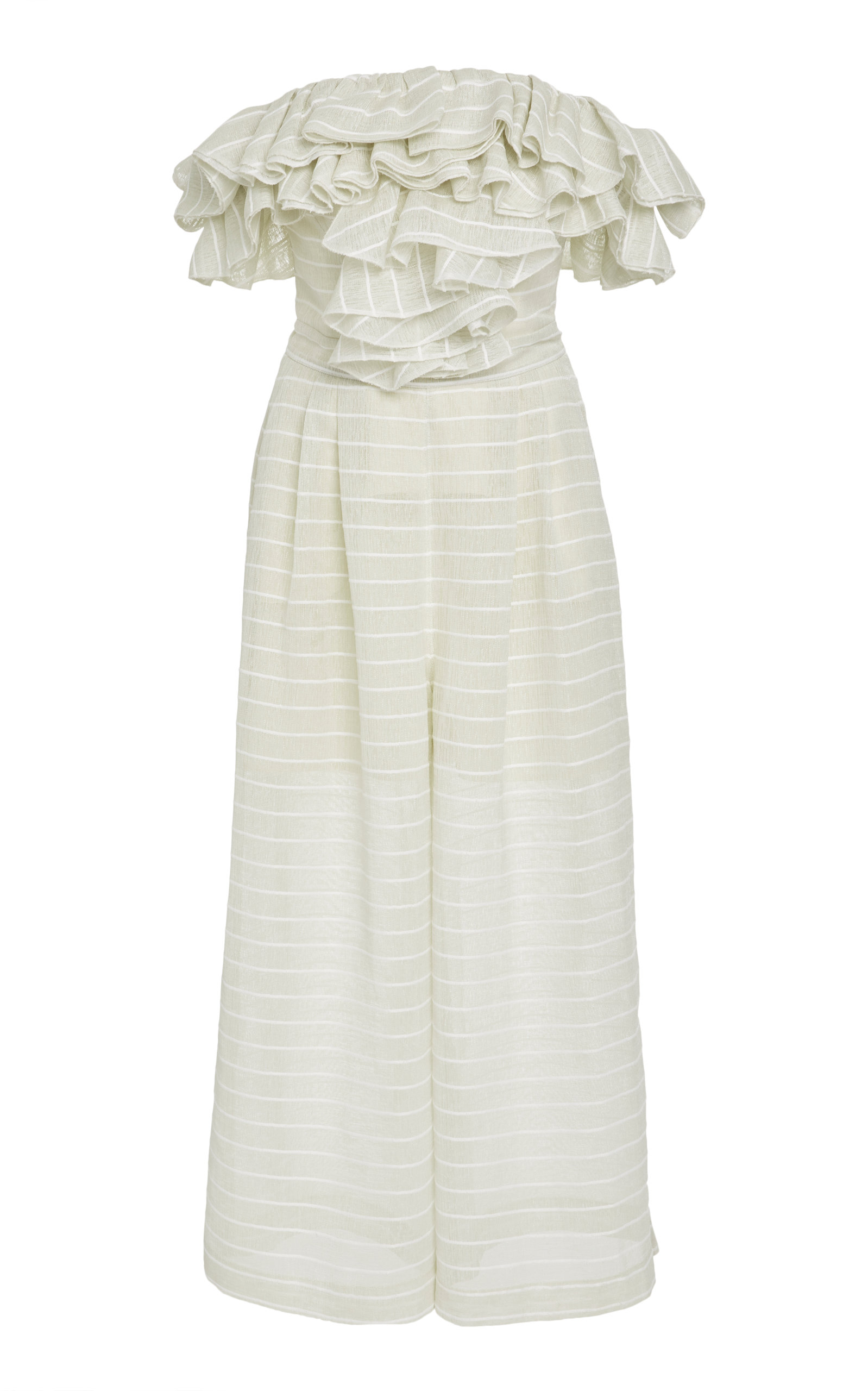 ACLER Tacuba Off The Shoulder Jumpsuit in White