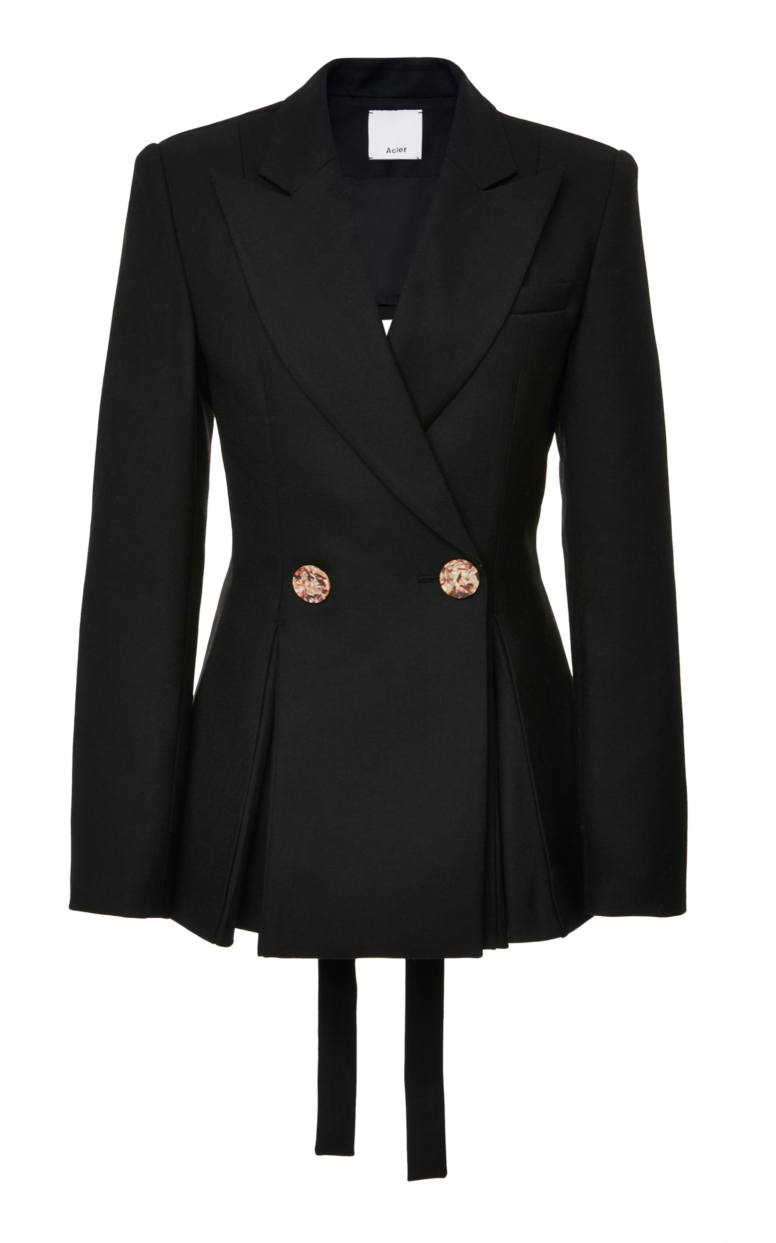 ACLER UNION DOUBLE BREASTED CREPE BLAZER