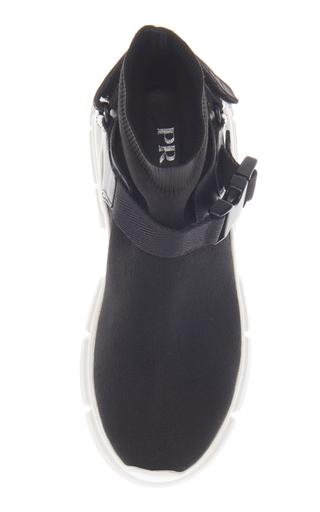 Chaussures De Sport À Boucle De Tricot Tendu Garni De Caoutchouc Prada p5TJCa
