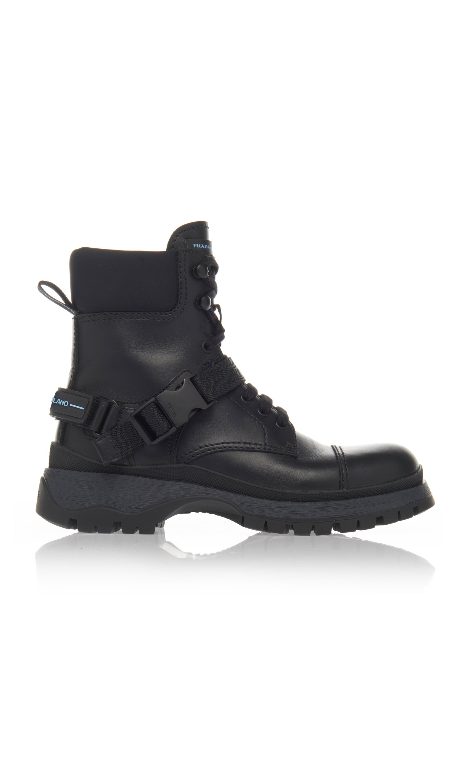 30MM LEATHER & NEOPRENE COMBAT BOOTS