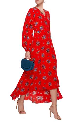 7d0c38ab GanniKochhar Floral-Print Silk Crepe De Chine Wrap Dress