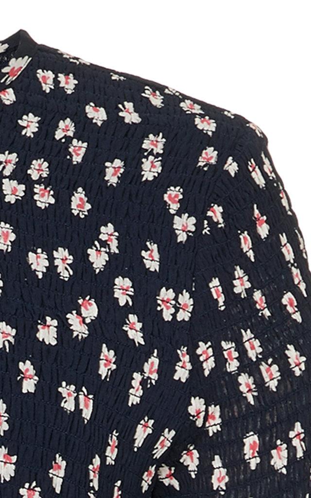 93b22327 GanniRometty Smocked Floral-Print Georgette Midi Dress. CLOSE. Loading.  Loading. Loading