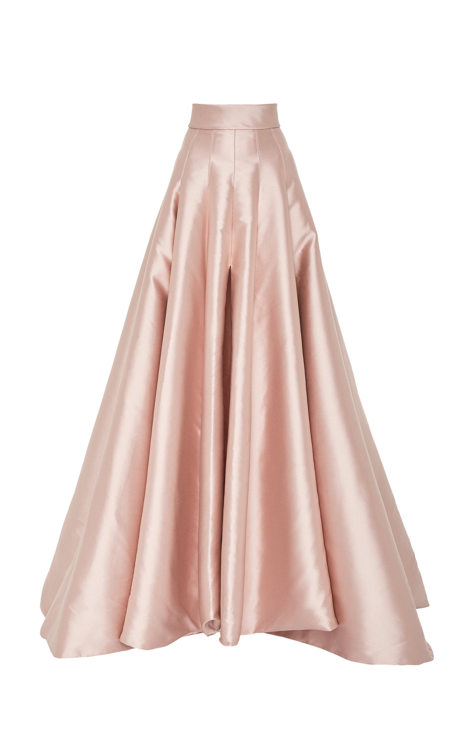 ae63c0858d Pleated Satin Maxi Skirt by Brandon Maxwell | Moda Operandi