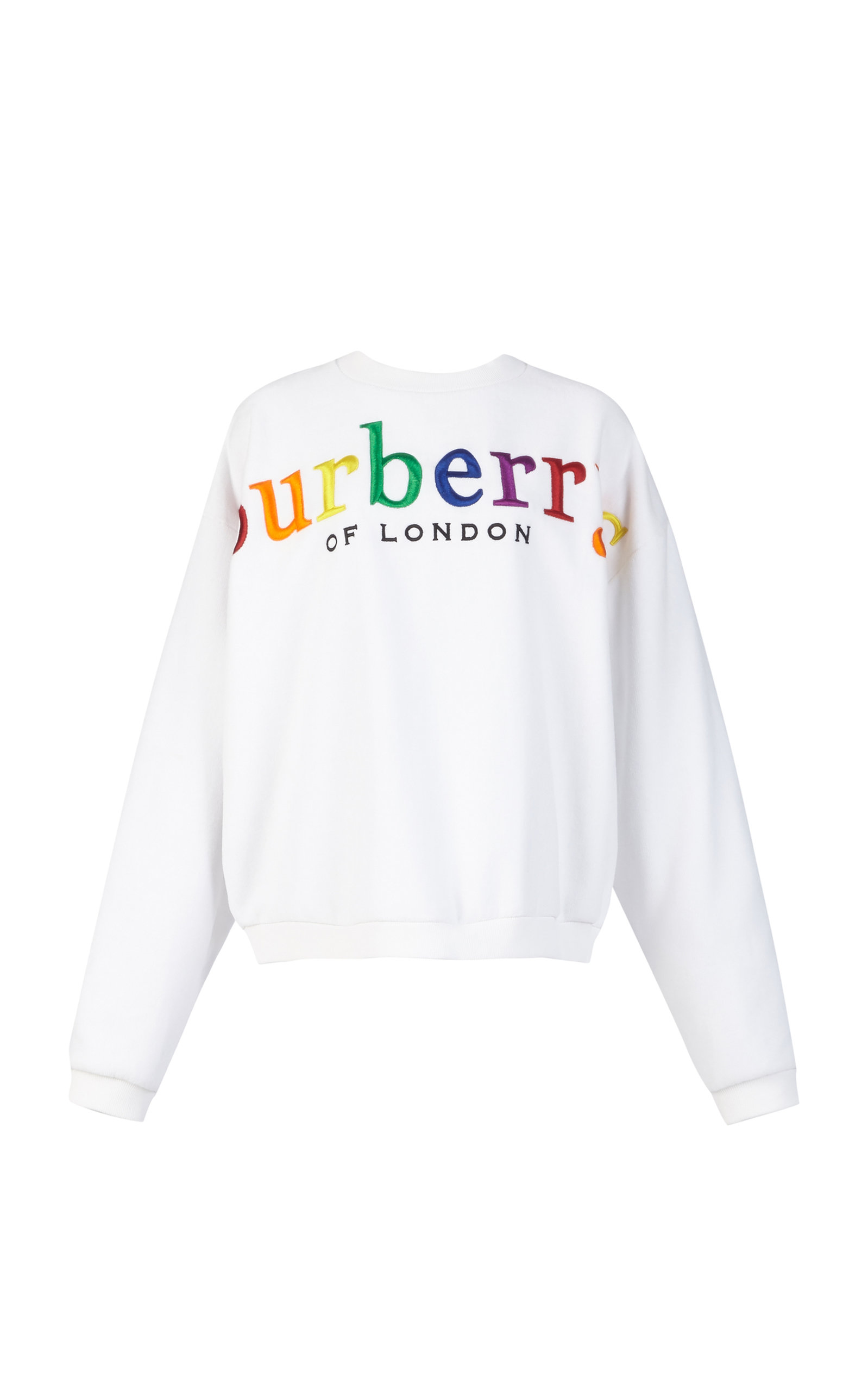 BURBERRY Archive Rainbow Logo Crewneck Sweatshirt in White
