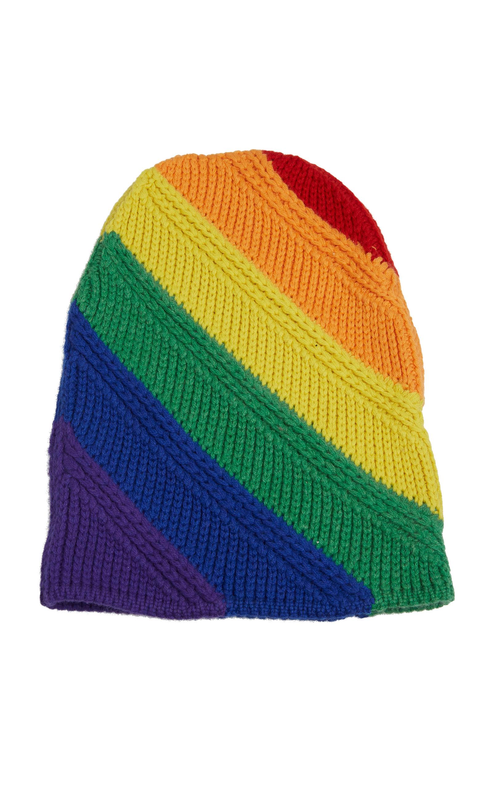 10b6233b564 Rainbow Stripe Knitted Beanie by Burberry