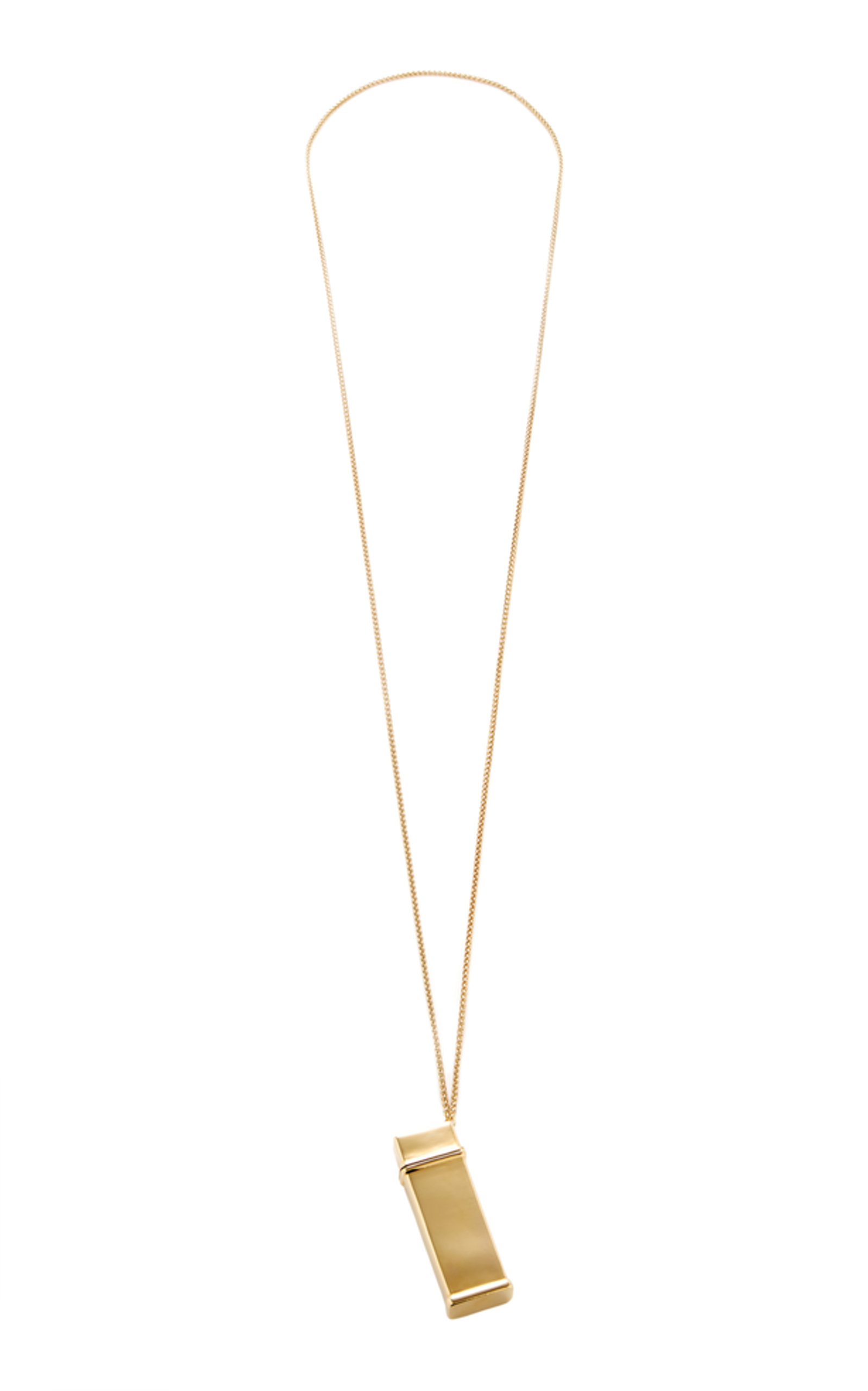 Gold Lighter Case Necklace Brandon Maxwell U15NsnW