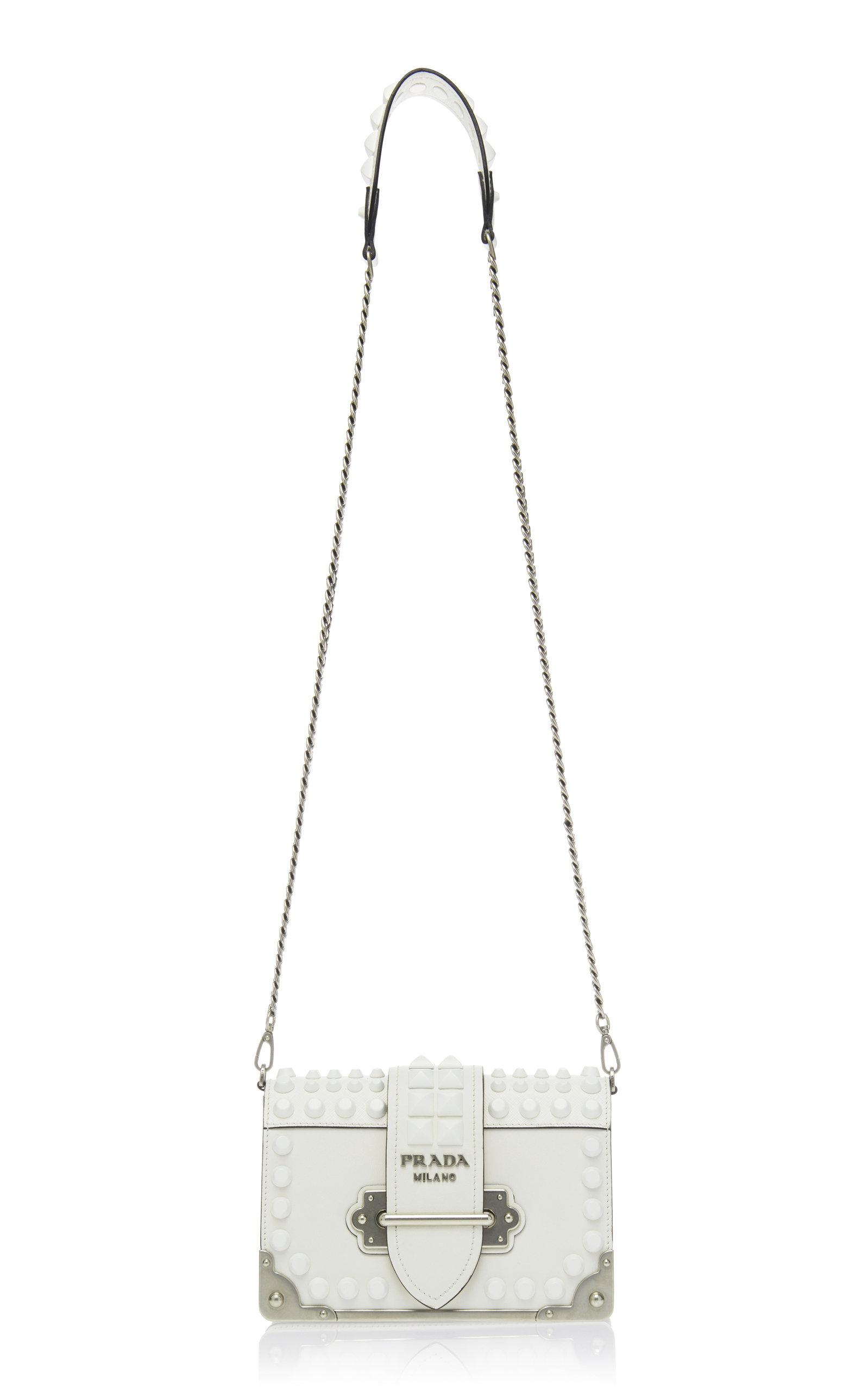 e01fab355100 PradaEmbellished Cahier Leather Shoulder Bag. CLOSE. Loading. Loading