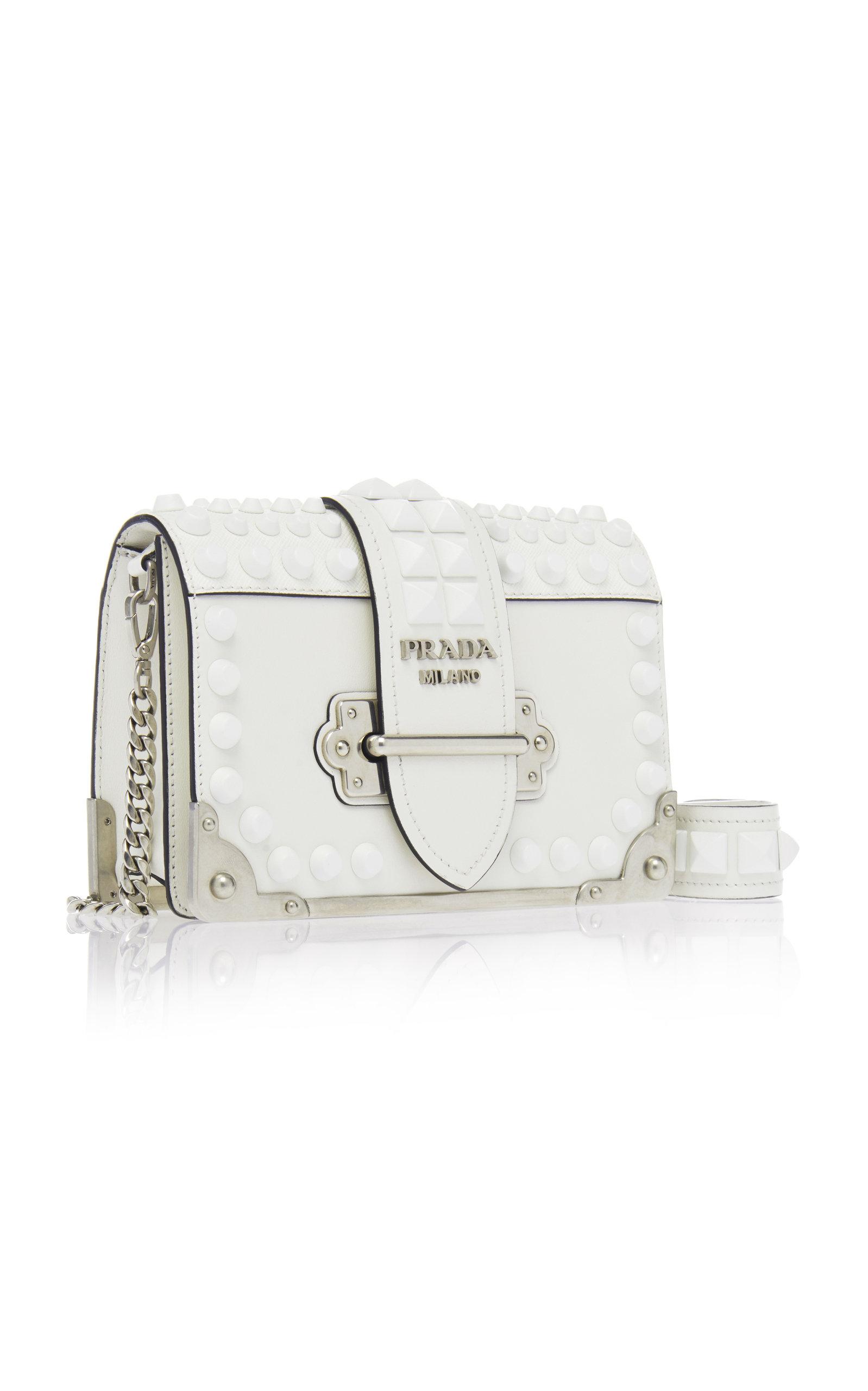 27b6ab41ef0e PradaEmbellished Cahier Leather Shoulder Bag. CLOSE. Loading. Loading.  Loading